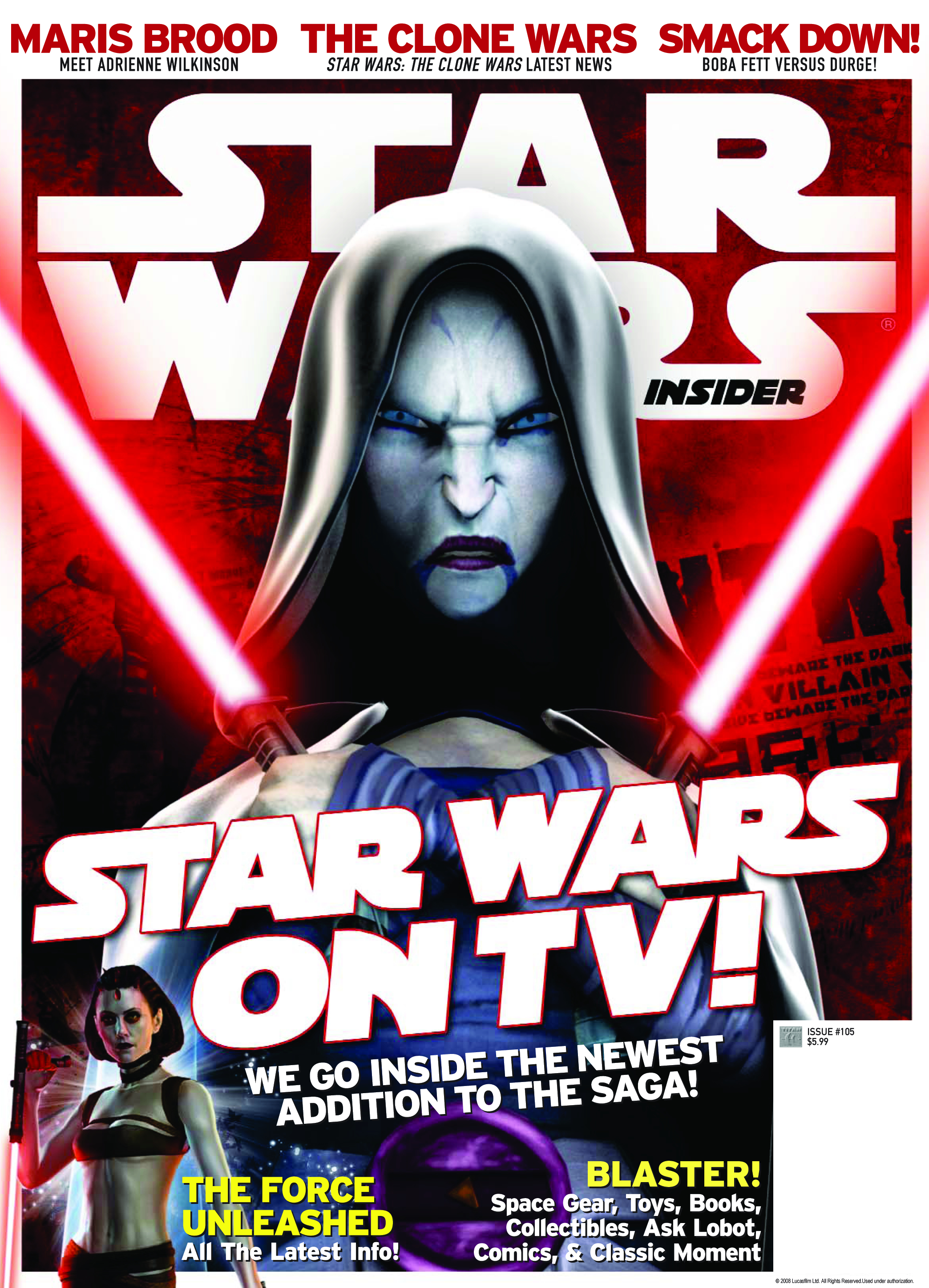 STAR WARS INSIDER #105 NEWSSTAND ED