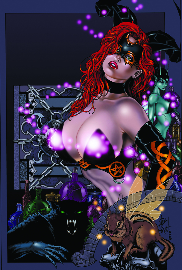 TAROT WITCH OF THE BLACK ROSE #55 GLOW ED (MR)