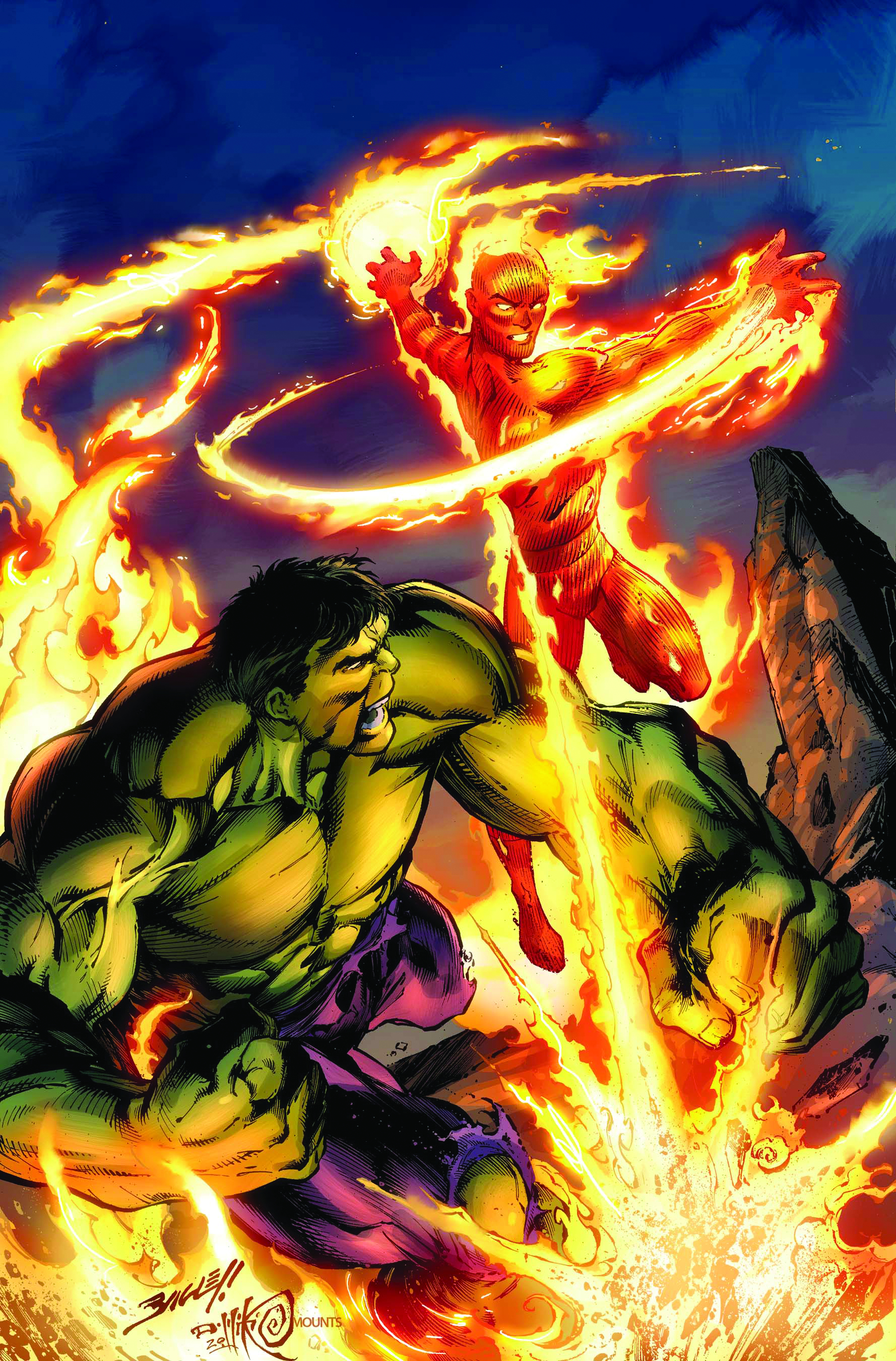 INCREDIBLE HULK & HUMAN TORCH FROM MARVEL VAULT #1
