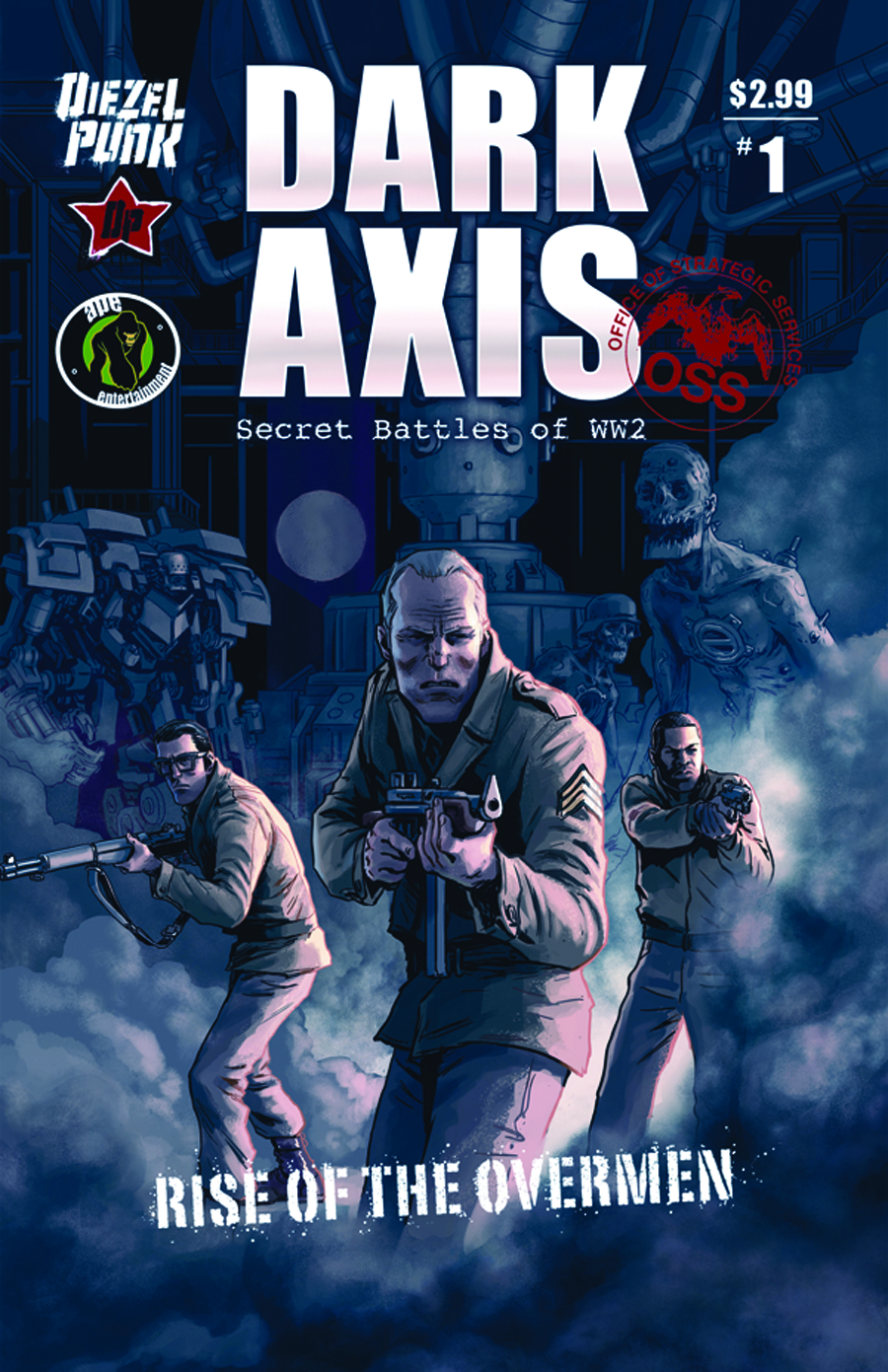 DARK AXIS RISE O/T OVERMEN #1 (OF 4) (MR)