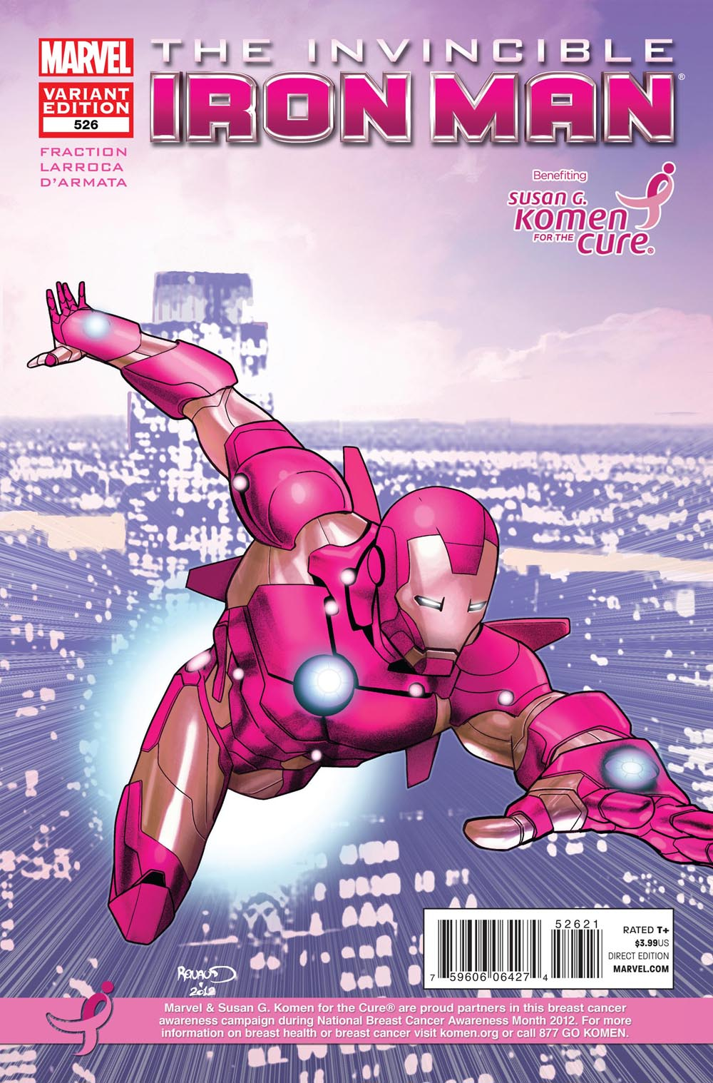 INVINCIBLE IRON MAN #526 KOMEN VAR