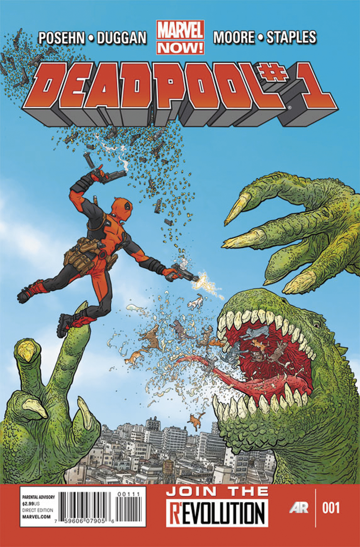 DEADPOOL #1 BLANK VAR NOW