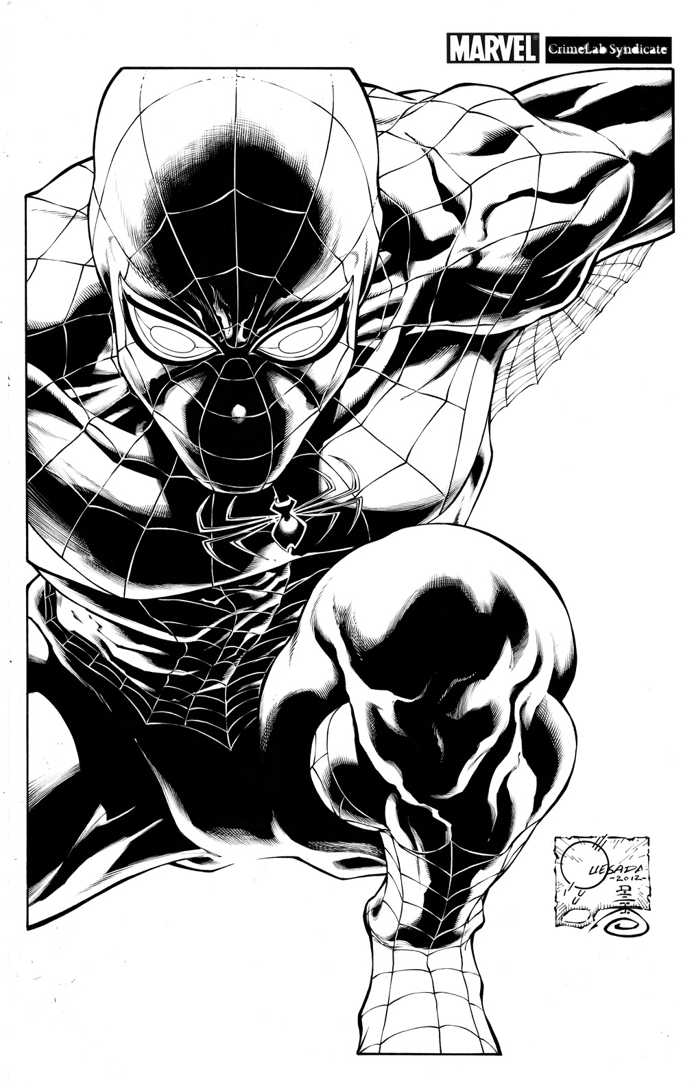 SUPERIOR SPIDER-MAN #1 QUESADA SKETCH VAR NOW