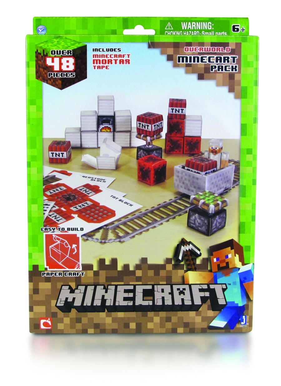 how to make a minecart in minecraft