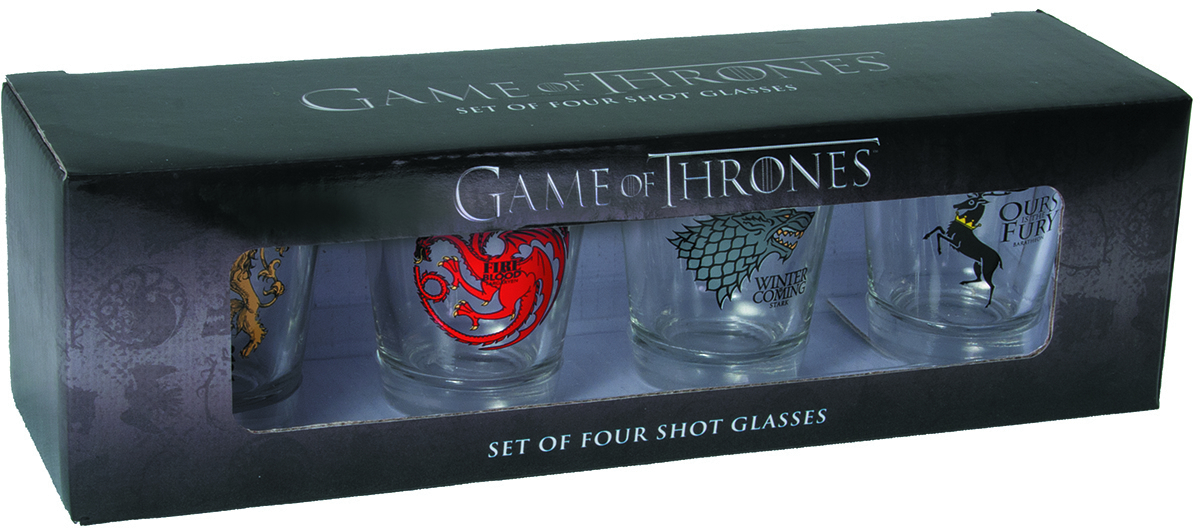 GAME OF THRONES SHOT GLASS SET FOUR SIGIL