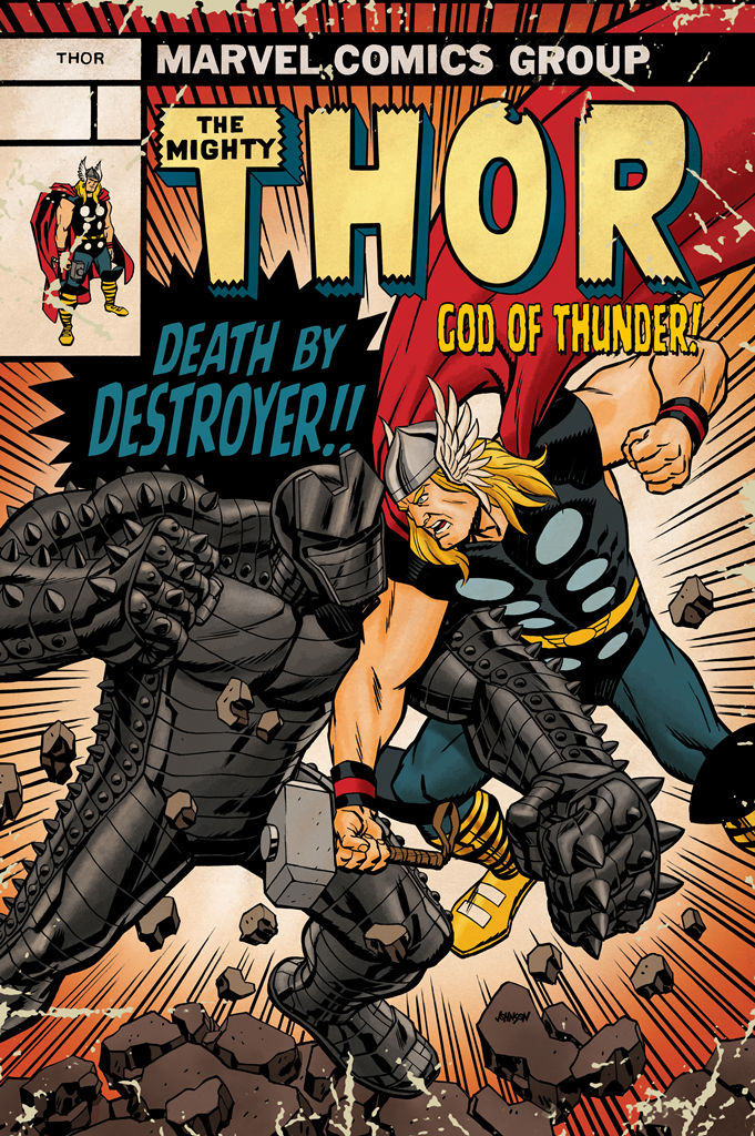 THOR GOD OF THUNDER #14 THOR BATTLE JOHNSON VAR