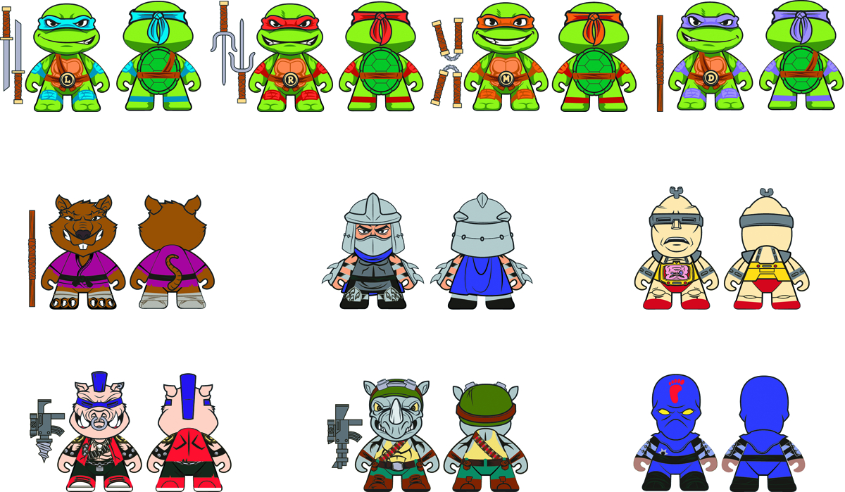 TMNT MINI FIG 20PC DS SER 01