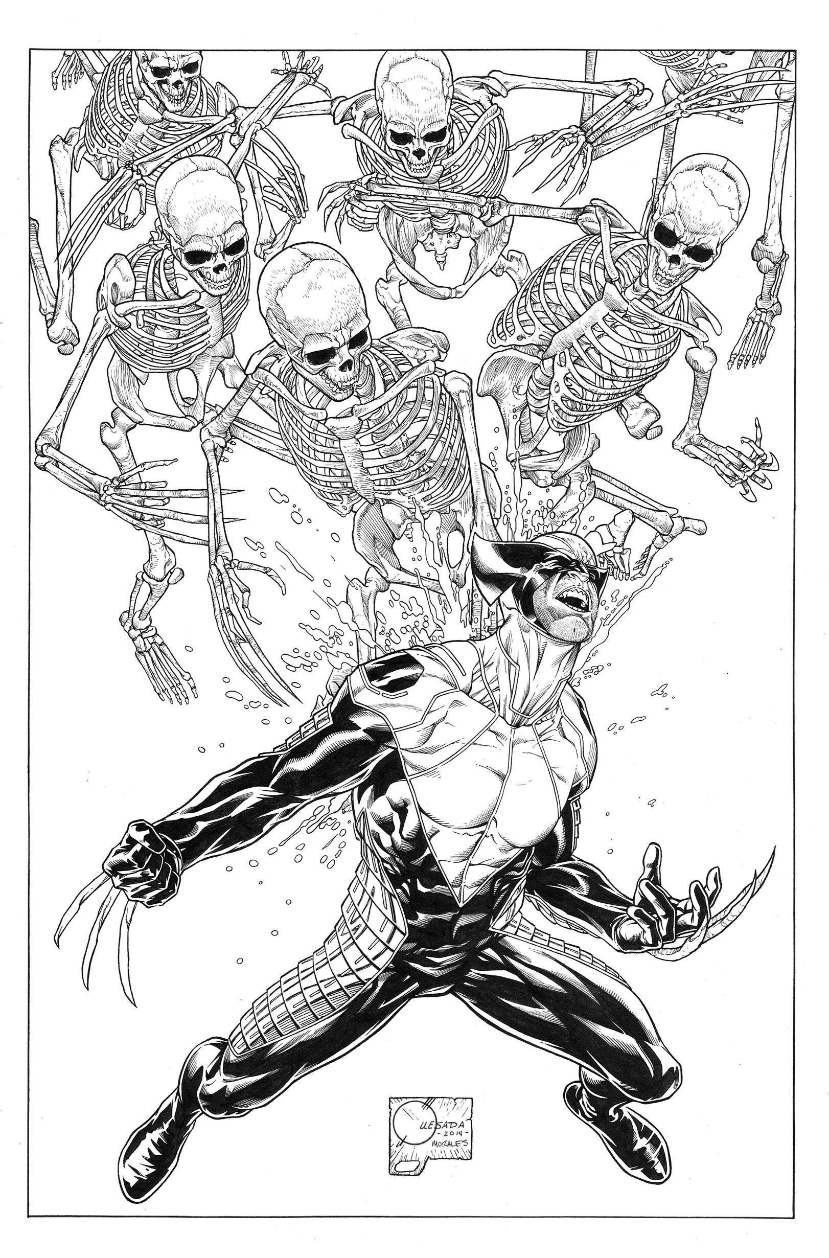 DEATH OF WOLVERINE #1 (OF 4) QUESADA SKETCH VAR