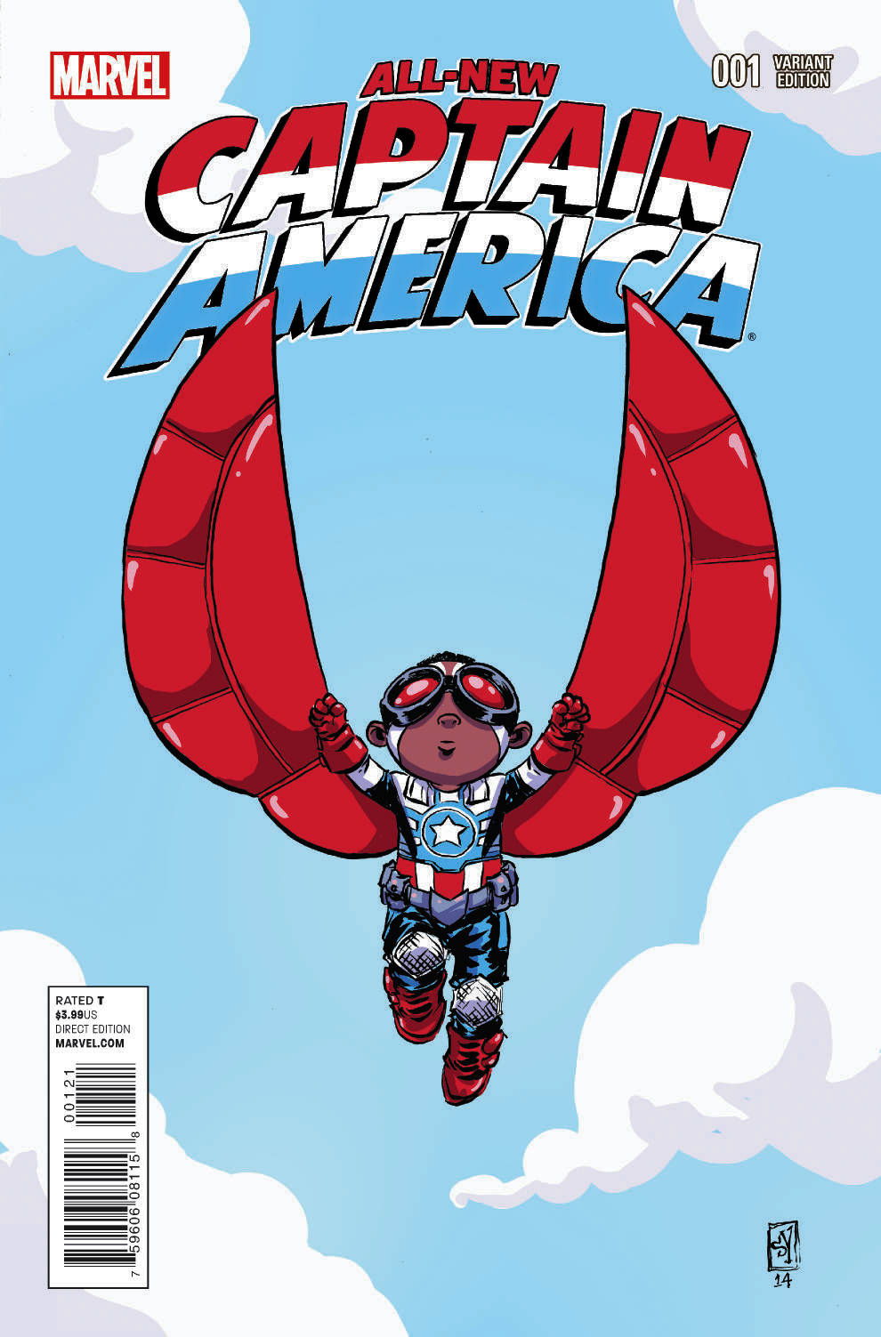 ALL NEW CAPTAIN AMERICA #1 YOUNG VAR