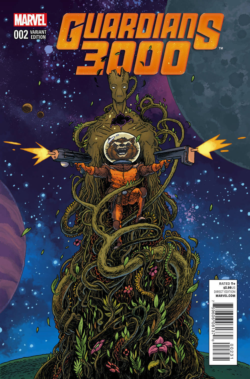 GUARDIANS 3000 #2 ROCKET RACCOON AND GROOT BERTRAM VAR