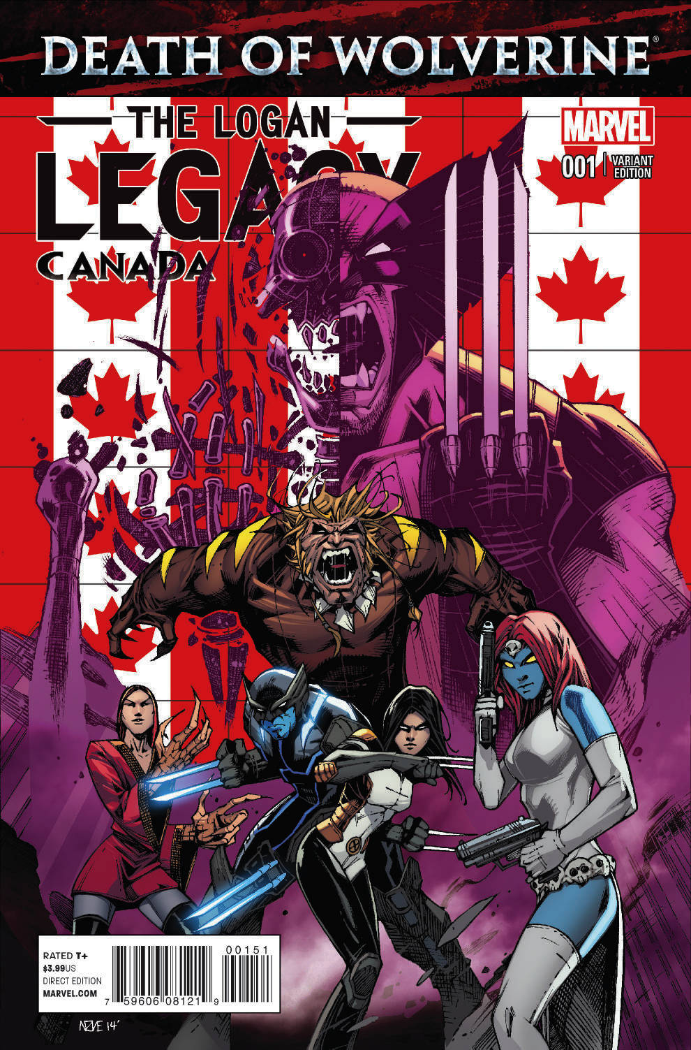 DEATH OF WOLVERINE LOGAN LEGACY #1 (OF 7) CANADA VAR (PP #11