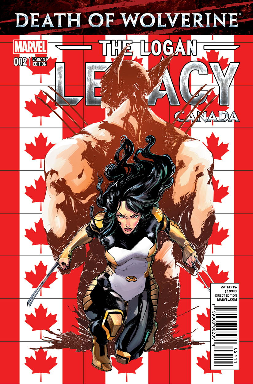DEATH OF WOLVERINE LOGAN LEGACY #2 (OF 7) CANADA VAR (PP #11