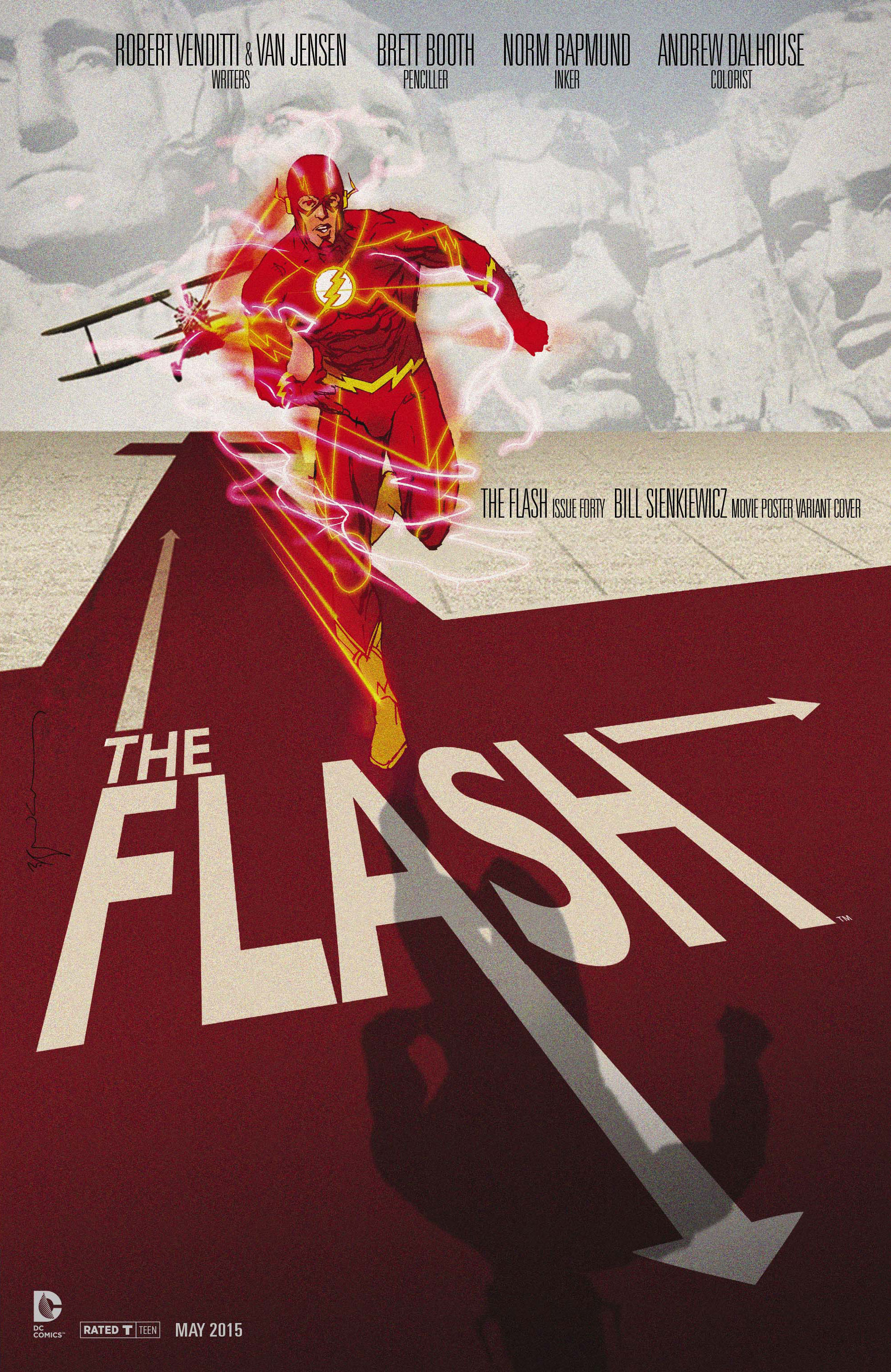 FLASH #40 MOVIE POSTER VAR ED