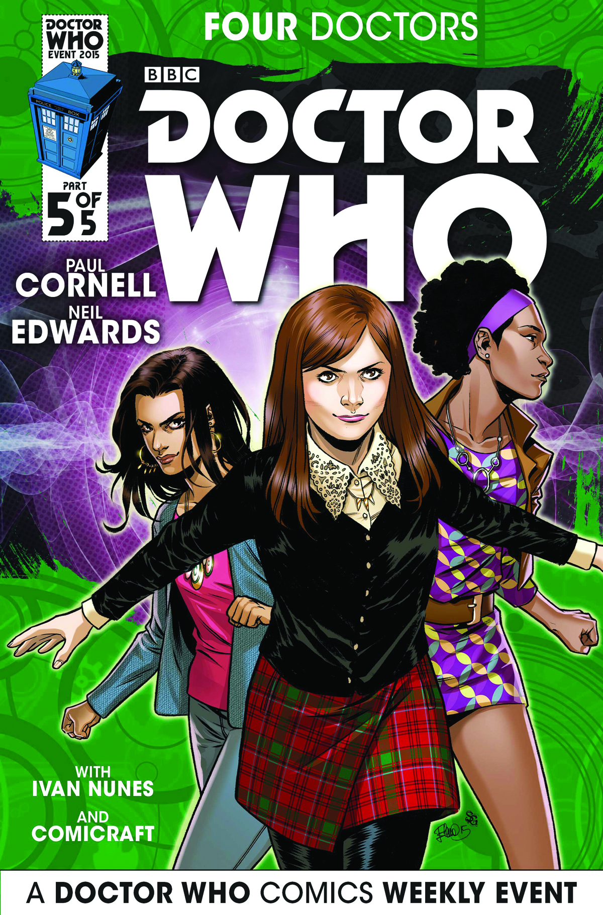 DOCTOR WHO 2015 FOUR DOCTORS #5 (OF 5) 25 COPY INCENTIVE CAS