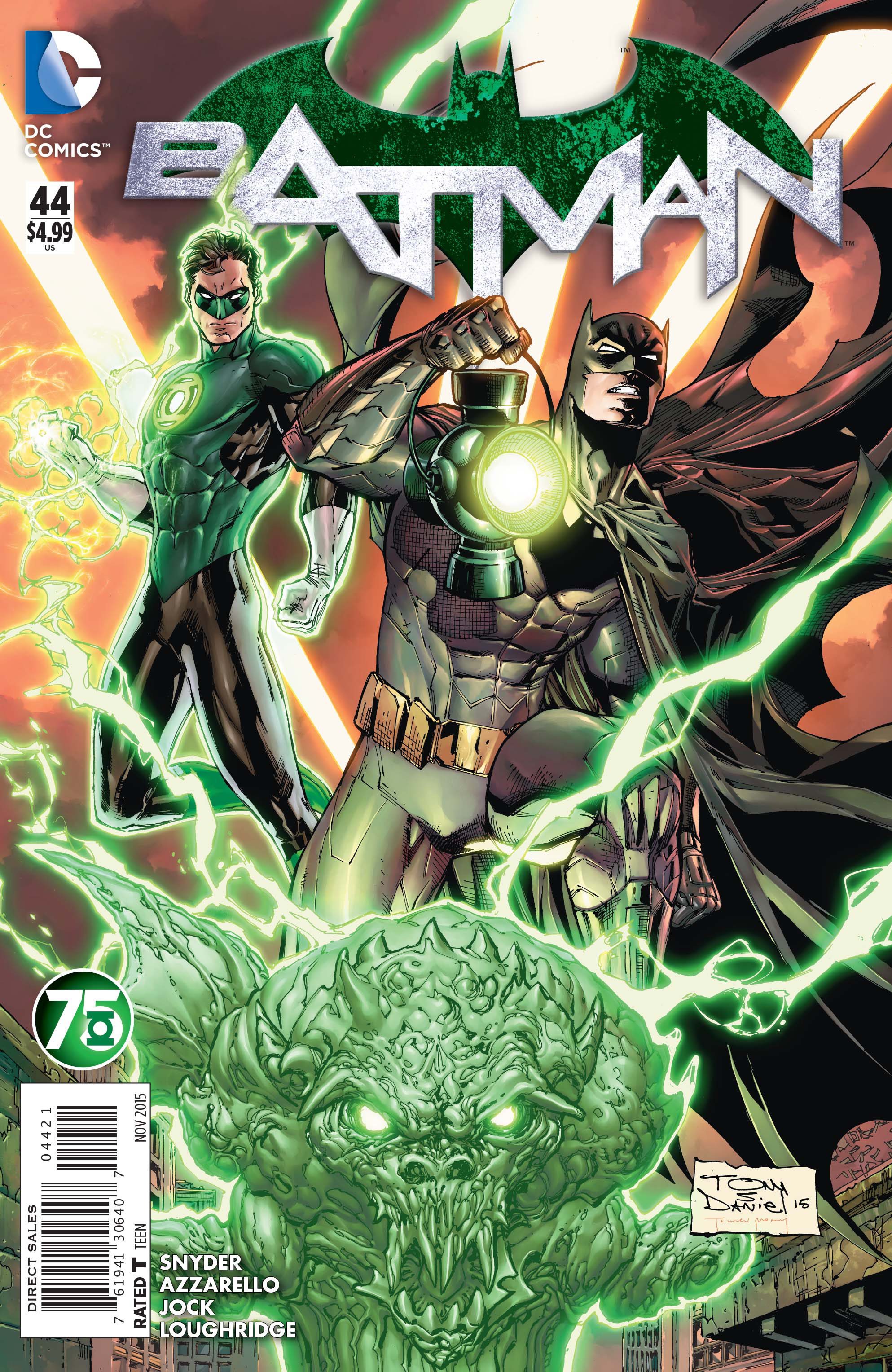 BATMAN #44 GREEN LANTERN 75 VAR ED