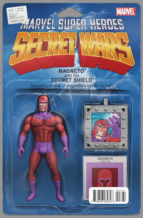 SECRET WARS #7 (OF 9) ACTION FIGURE VAR SWA