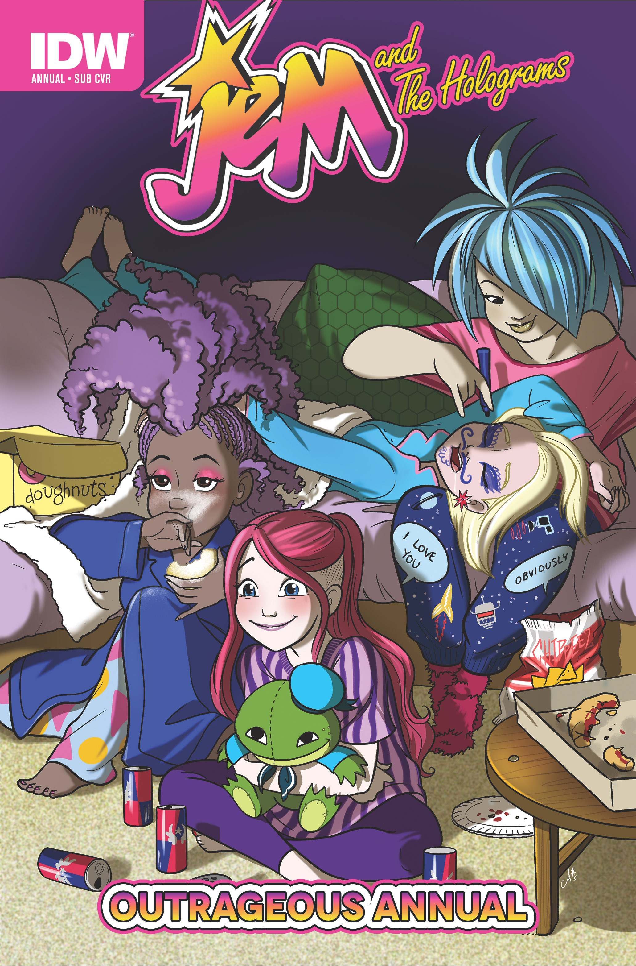 JEM & THE HOLOGRAMS OUTRAGEOUS ANNUAL #1 SUB VAR