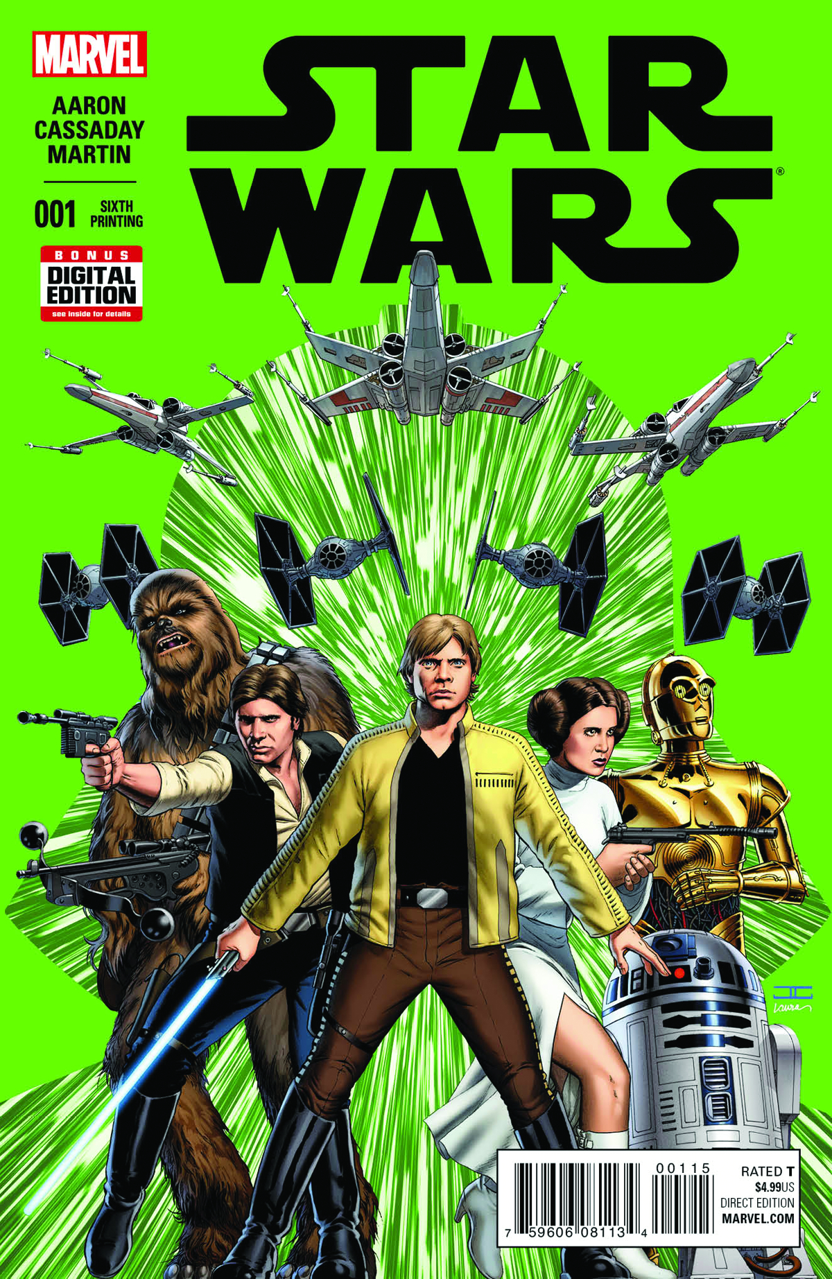 STAR WARS #1 CASSADAY 6TH PTG VAR (PP #1183)