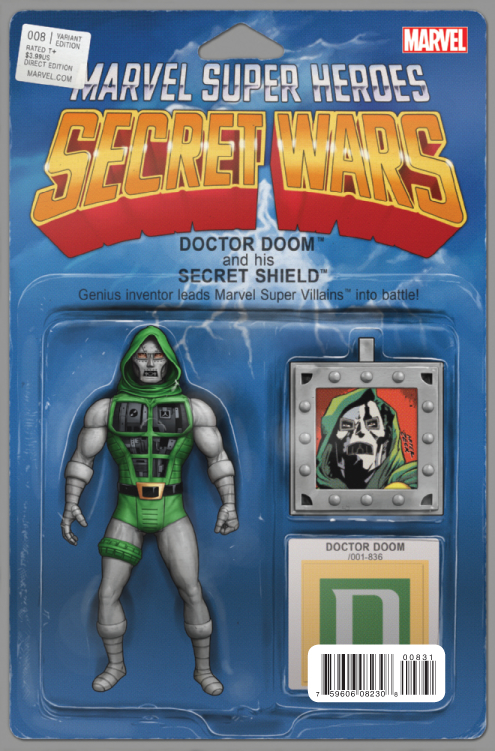 SECRET WARS #8 (OF 9) CHRISTOPHER ACTION FIGURE VAR SWA