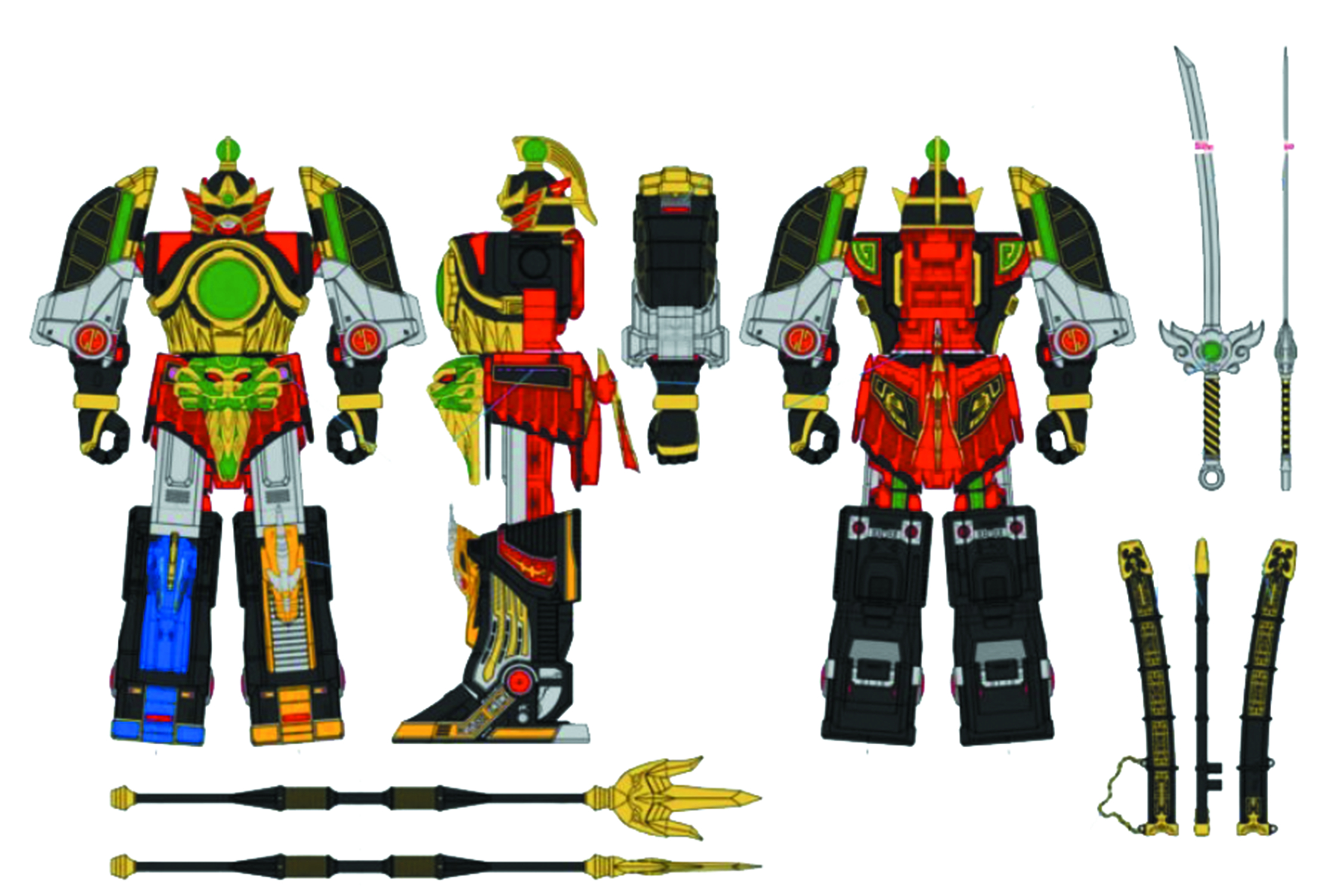 POWER RANGERS LEGACY THUNDER MEGAZORD  (MAY189112)