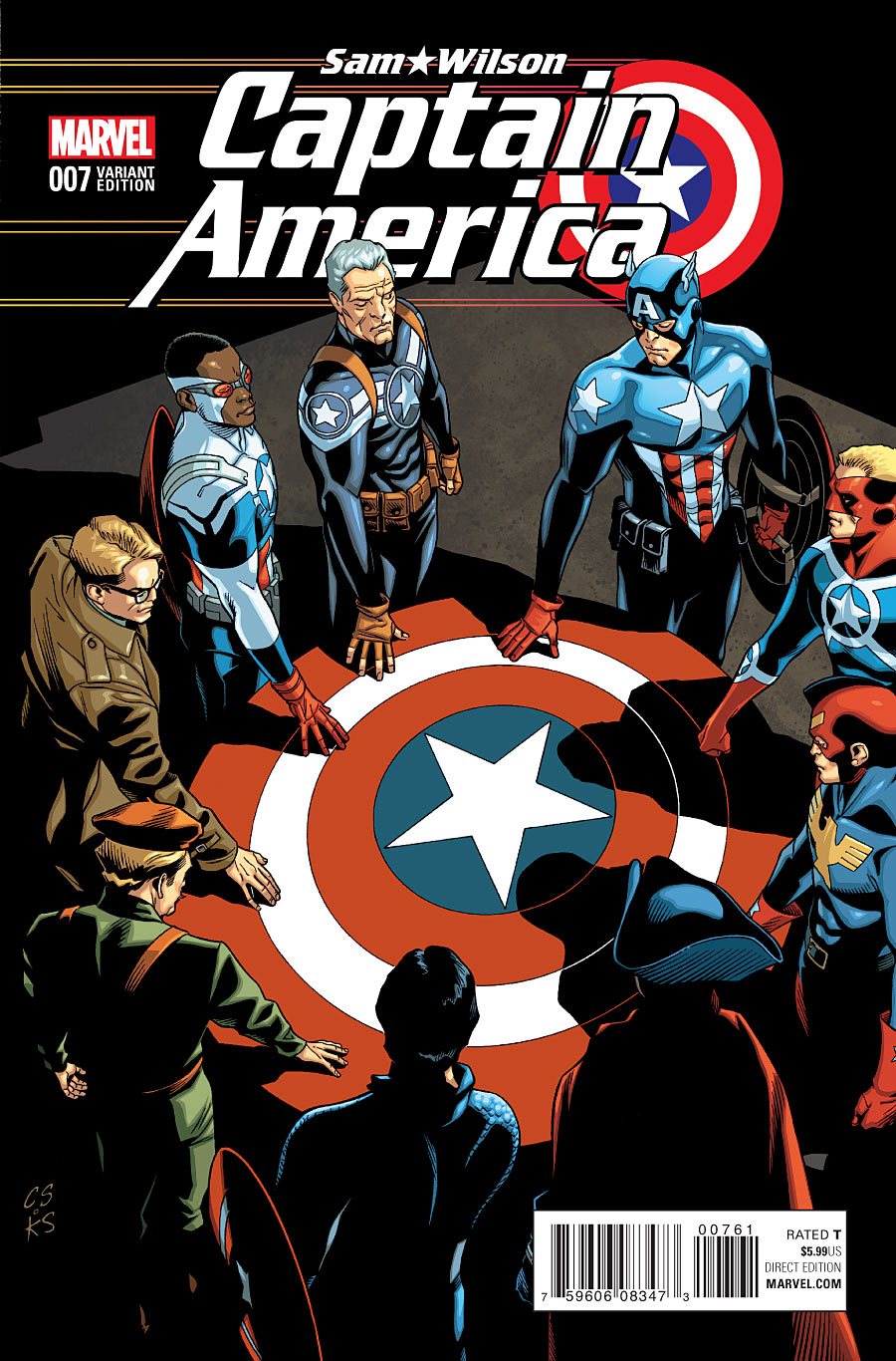 CAPTAIN AMERICA SAM WILSON #7 CAP OF ALL ERAS VAR ASO
