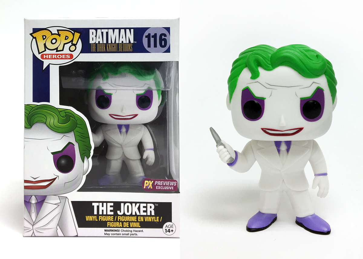 Jul162706 Pop Dc Heroes Dkr Joker Px Vinyl Fig