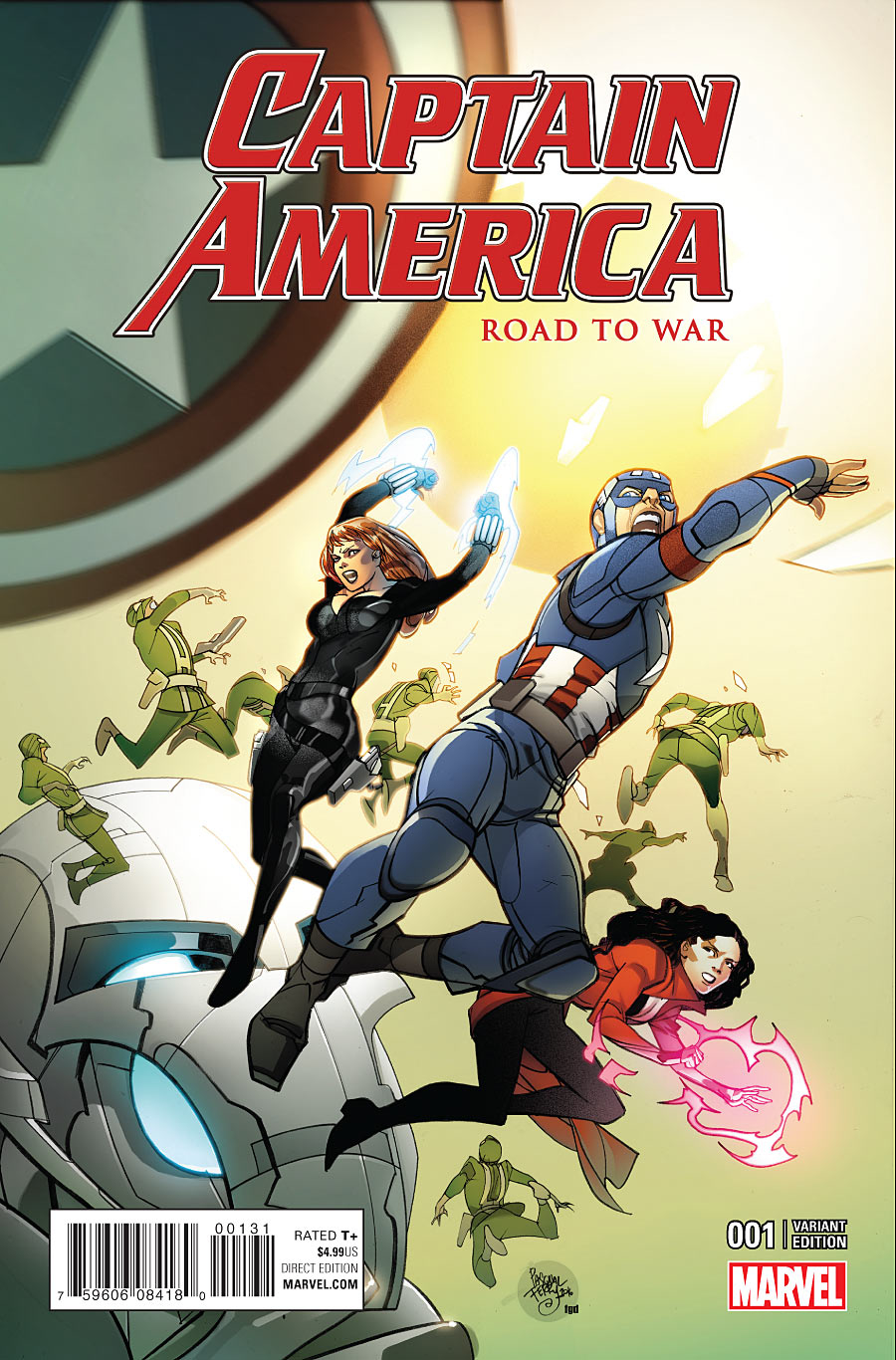 CAPTAIN AMERICA ROAD TO WAR #1 FERRY VAR