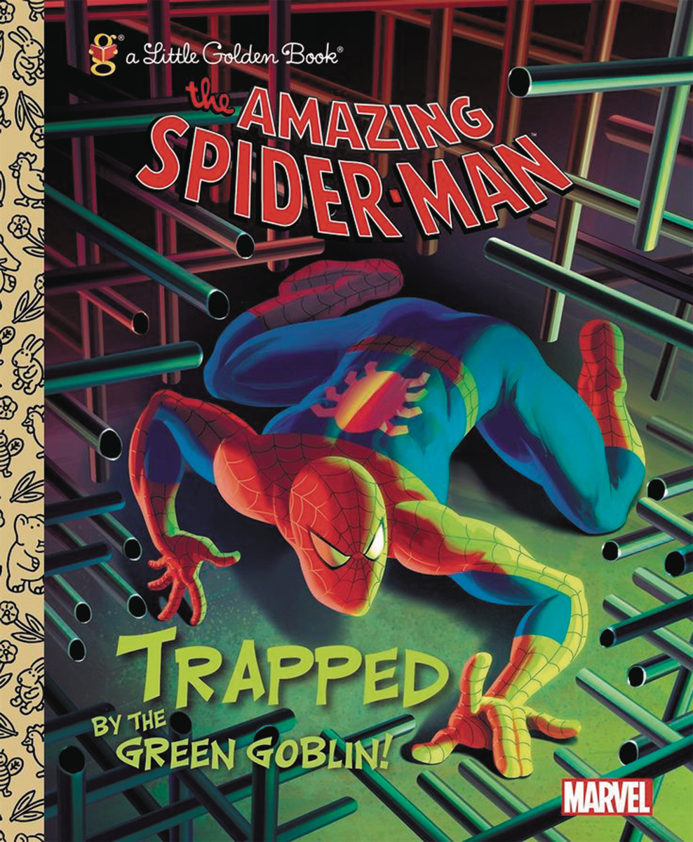 SPIDER-MAN TRAPPED BY GREEN GOBLIN LITTLE GOLDEN BK REISSUE