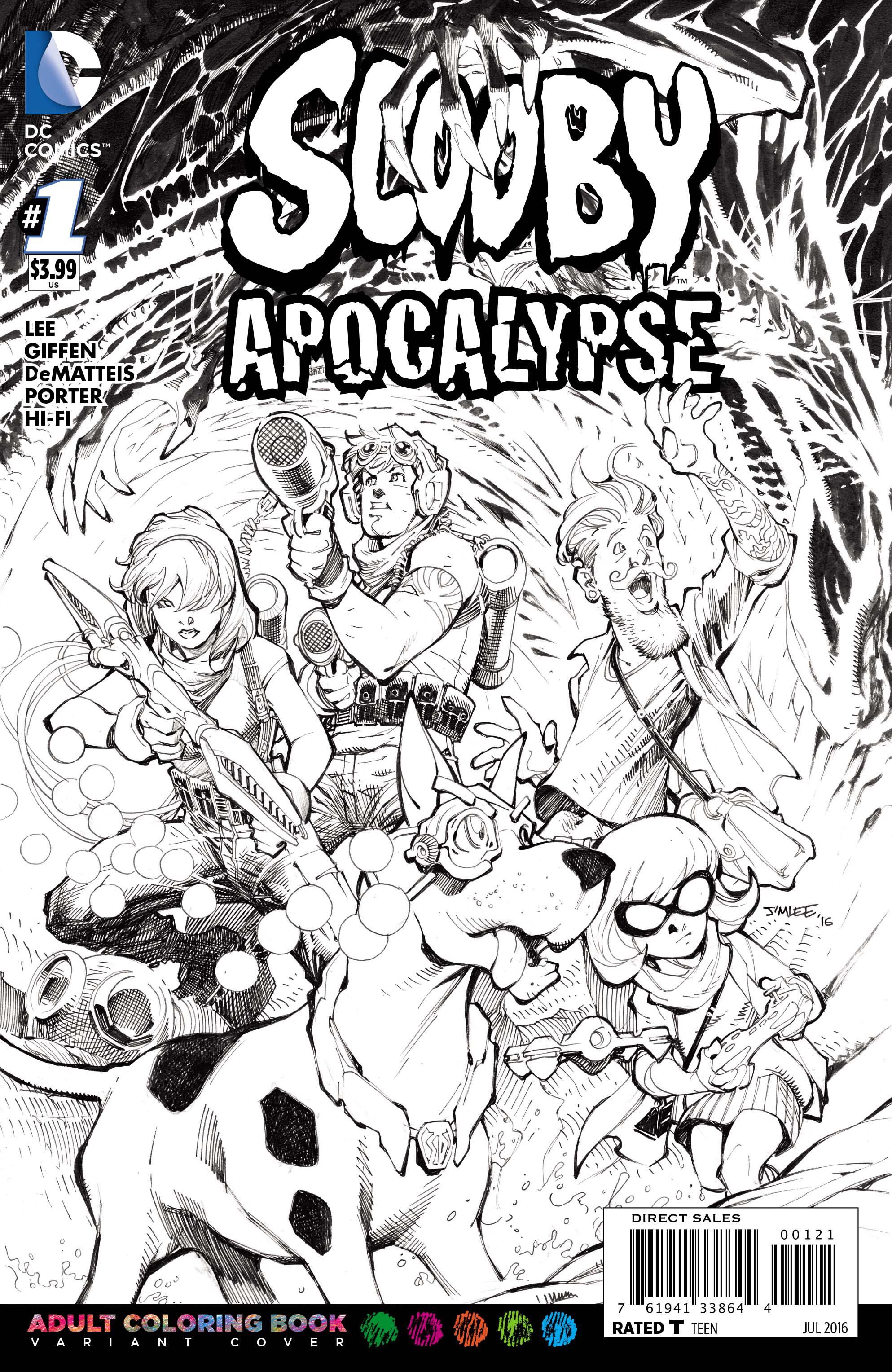 SCOOBY APOCALYPSE #1 COLORING BOOK VAR ED