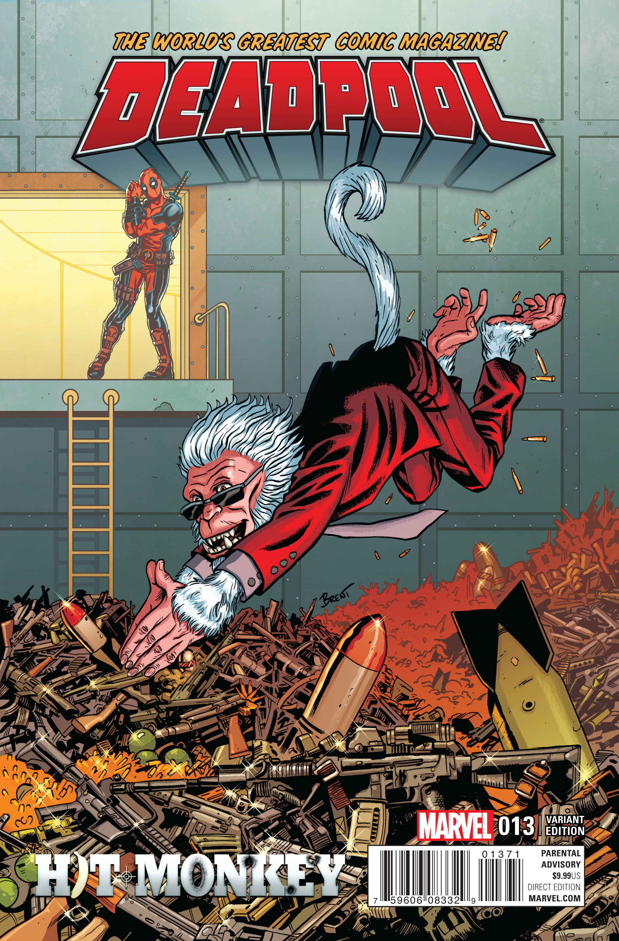 DEADPOOL #13 ADD HIT MONKEY VAR