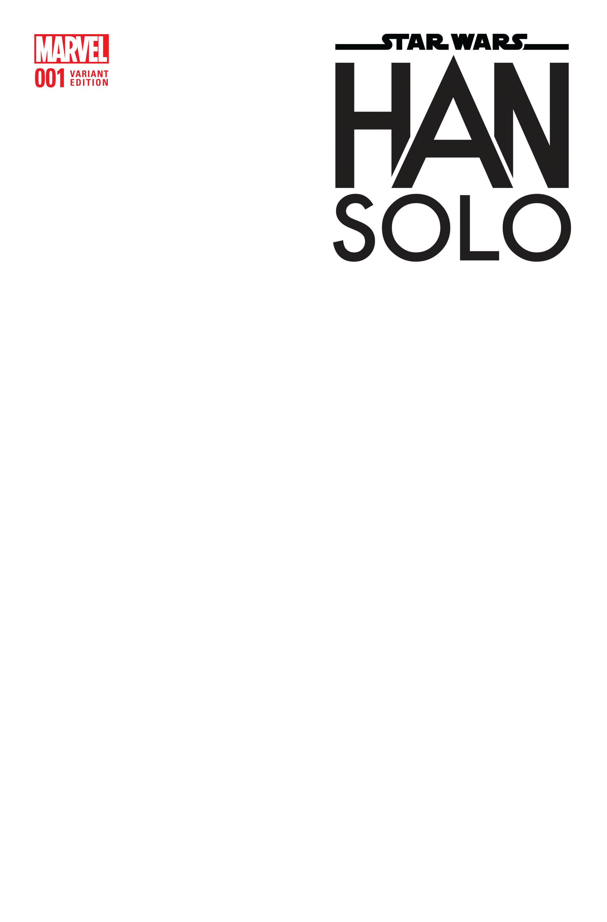 STAR WARS HAN SOLO #1 (OF 5) BLANK VAR