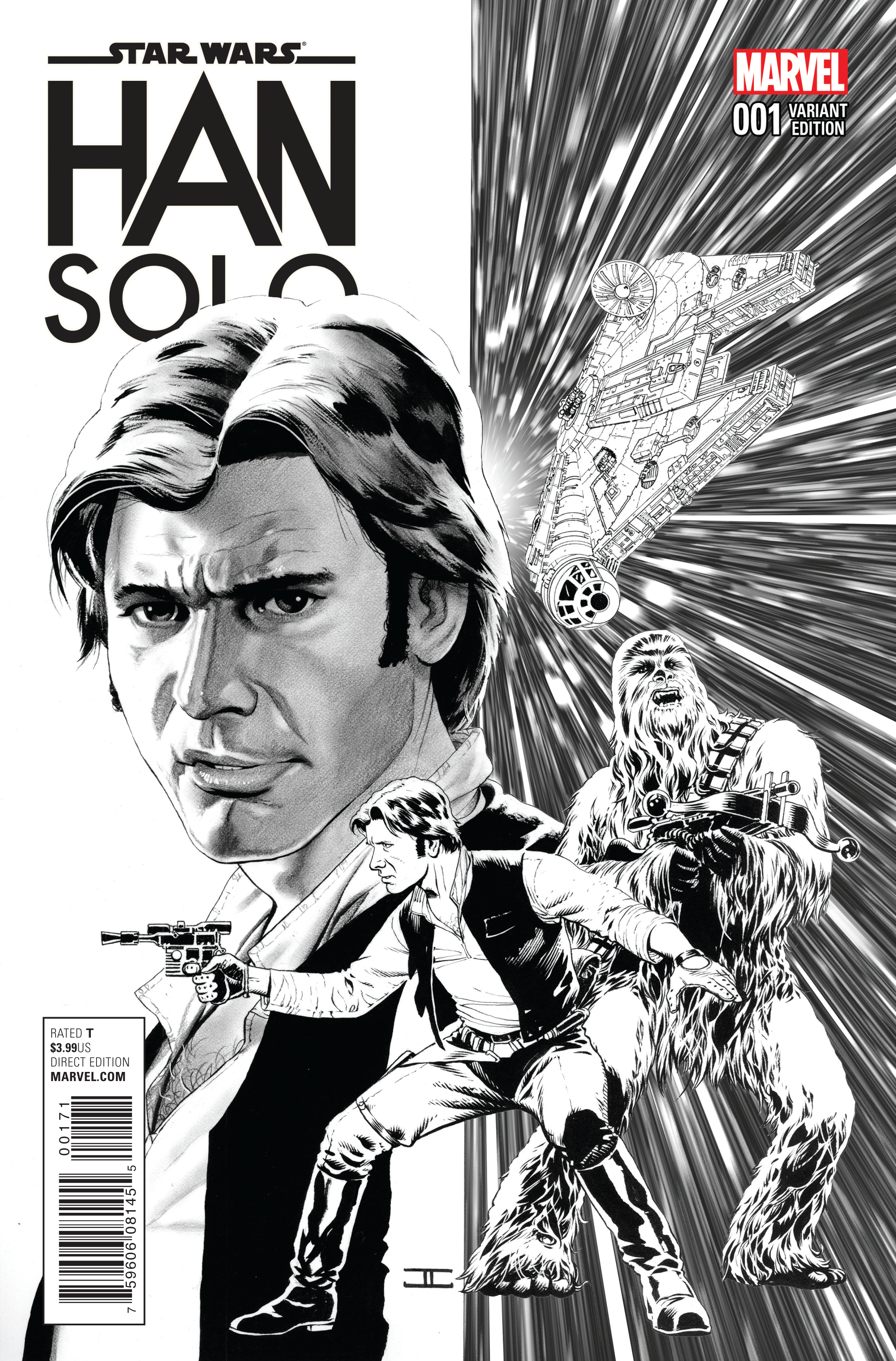 STAR WARS HAN SOLO #1 (OF 5) CASSADAY SKETCH VAR