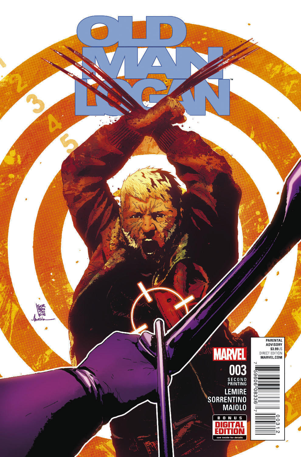 OLD MAN LOGAN #3 SORRENTINO 2ND PTG VAR