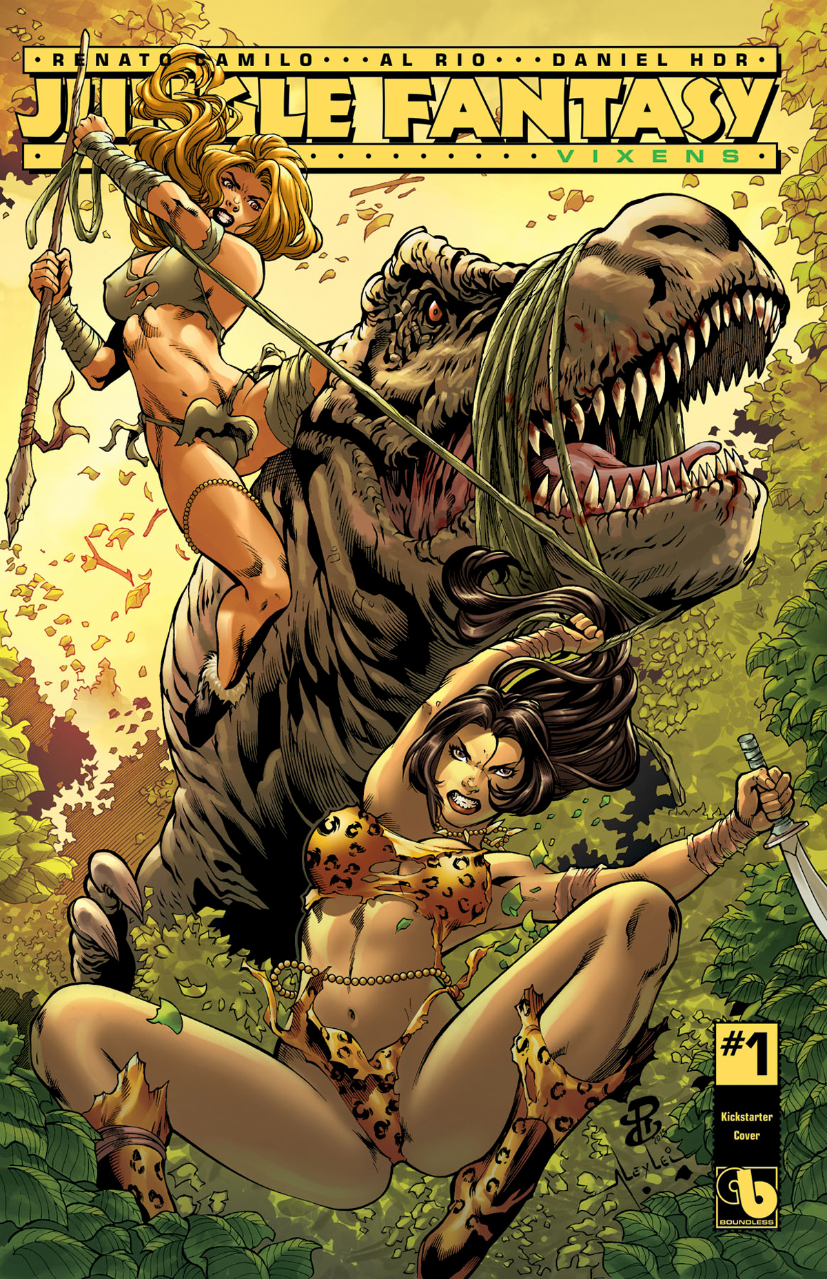 JUNGLE FANTASY VIXENS #1 (OF 2) KICKSTARTER CVR (MR)