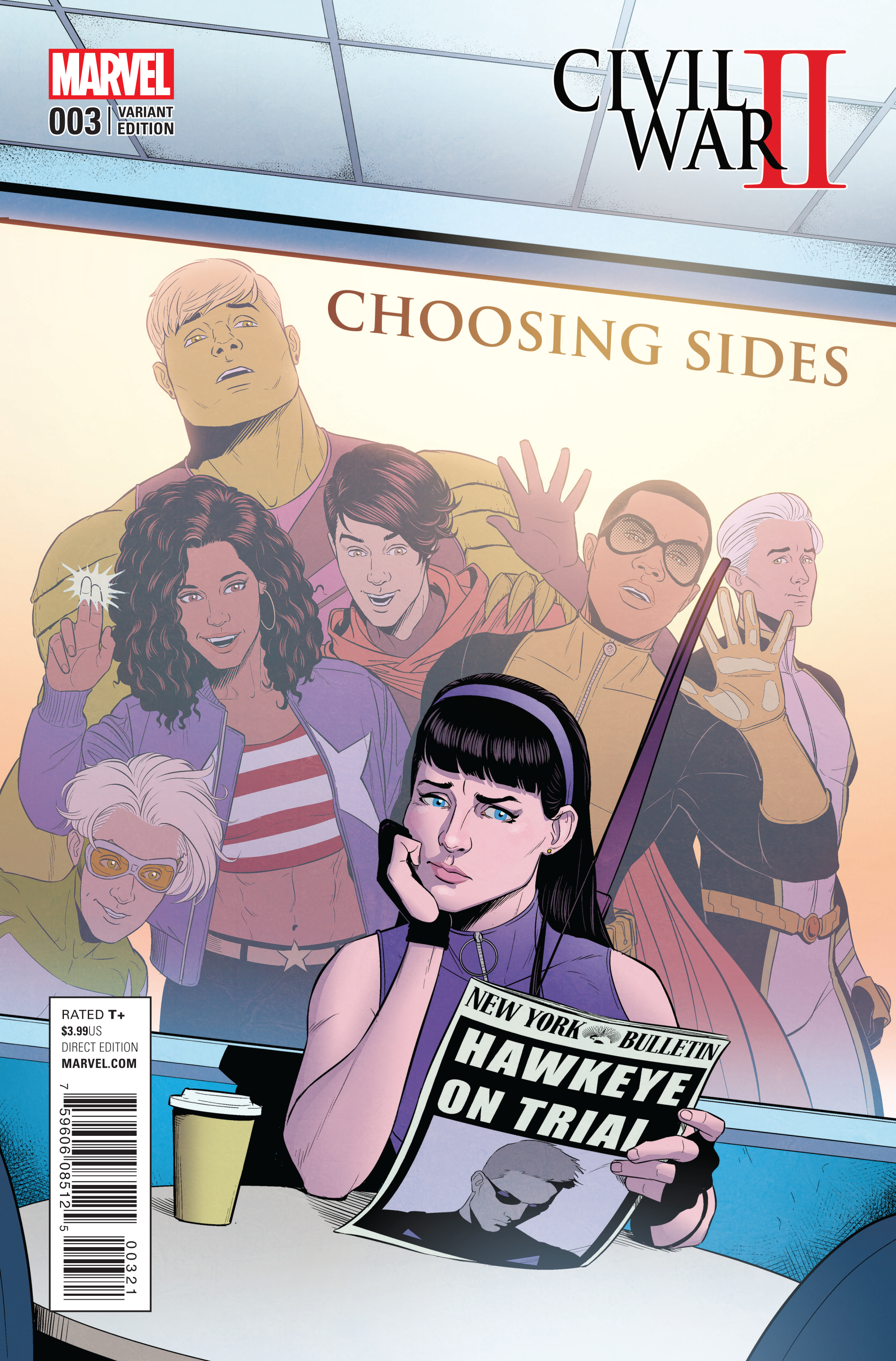 CIVIL WAR II CHOOSING SIDES #3 (OF 6) MCKELVIE VAR