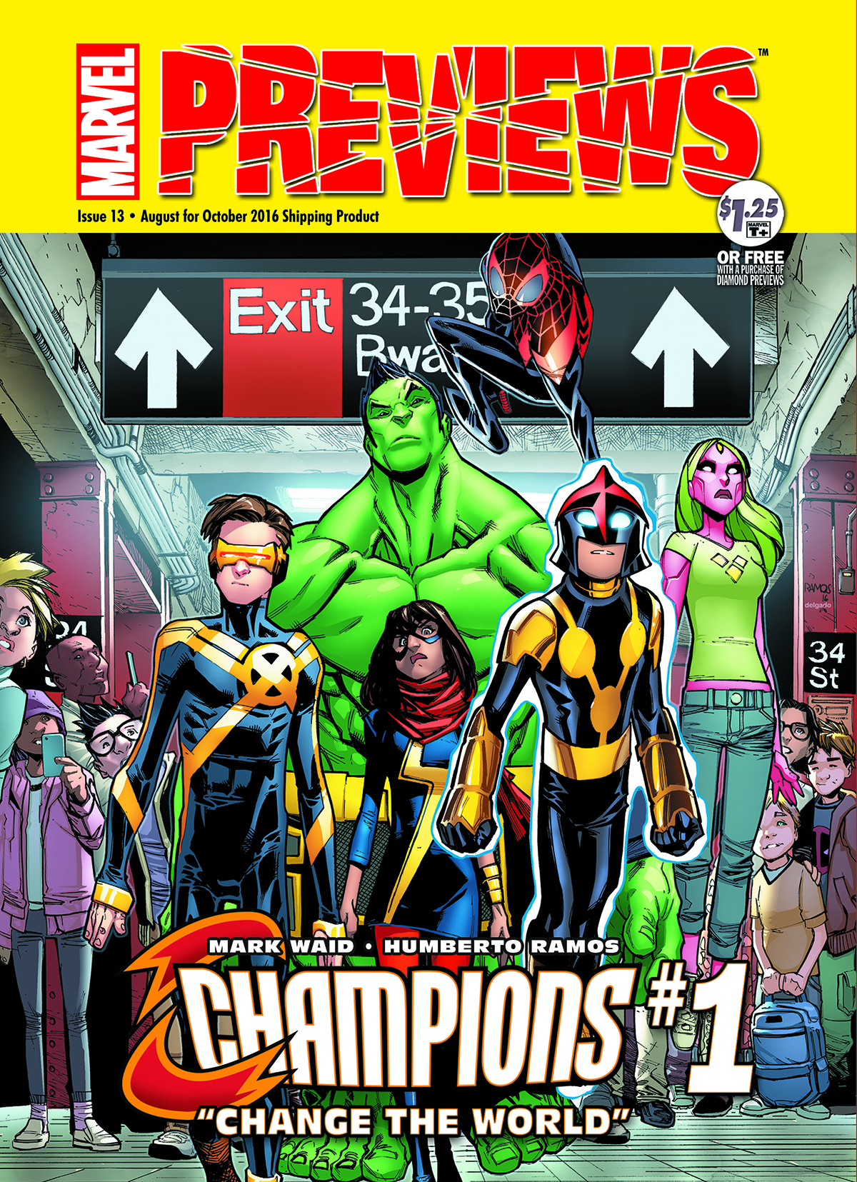 MARVEL PREVIEWS #13 AUGUST 2016 EXTRAS (Net)