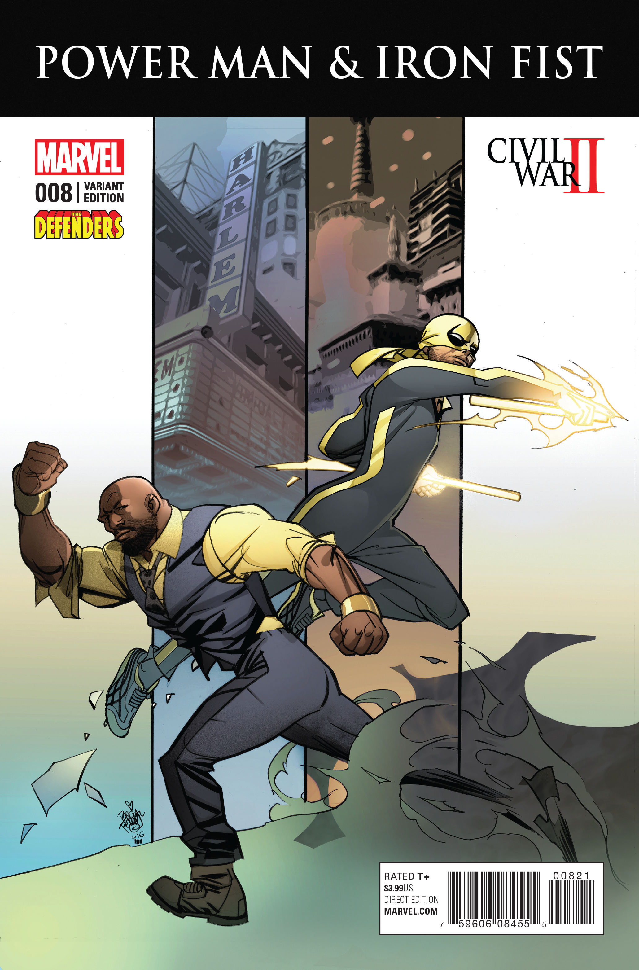 POWER MAN AND IRON FIST #8 DEFENDERS VAR CW2