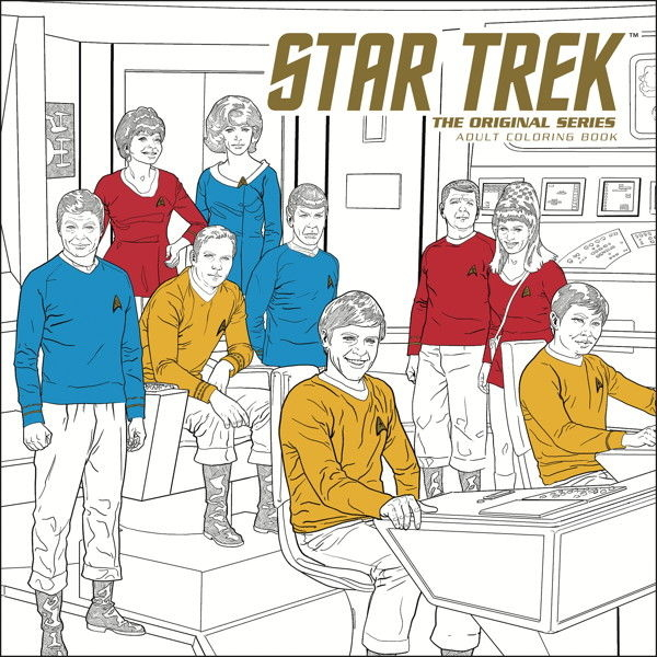 STAR TREK ORIGINAL SERIES ADULT COLORING BOOK TP VOL 01 (O/A