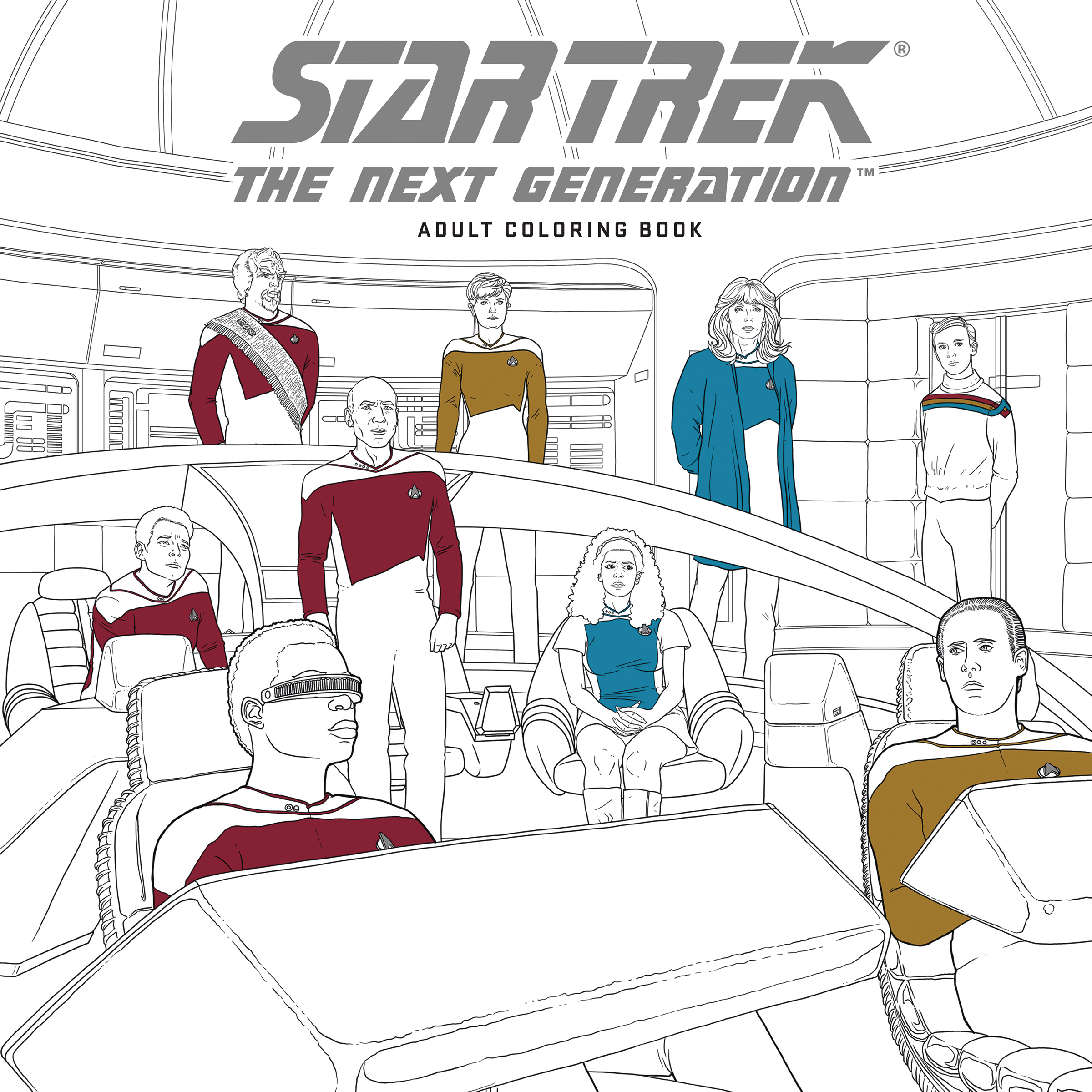 STAR TREK TNG ADULT COLORING BOOK TP VOL 01 (O/A)