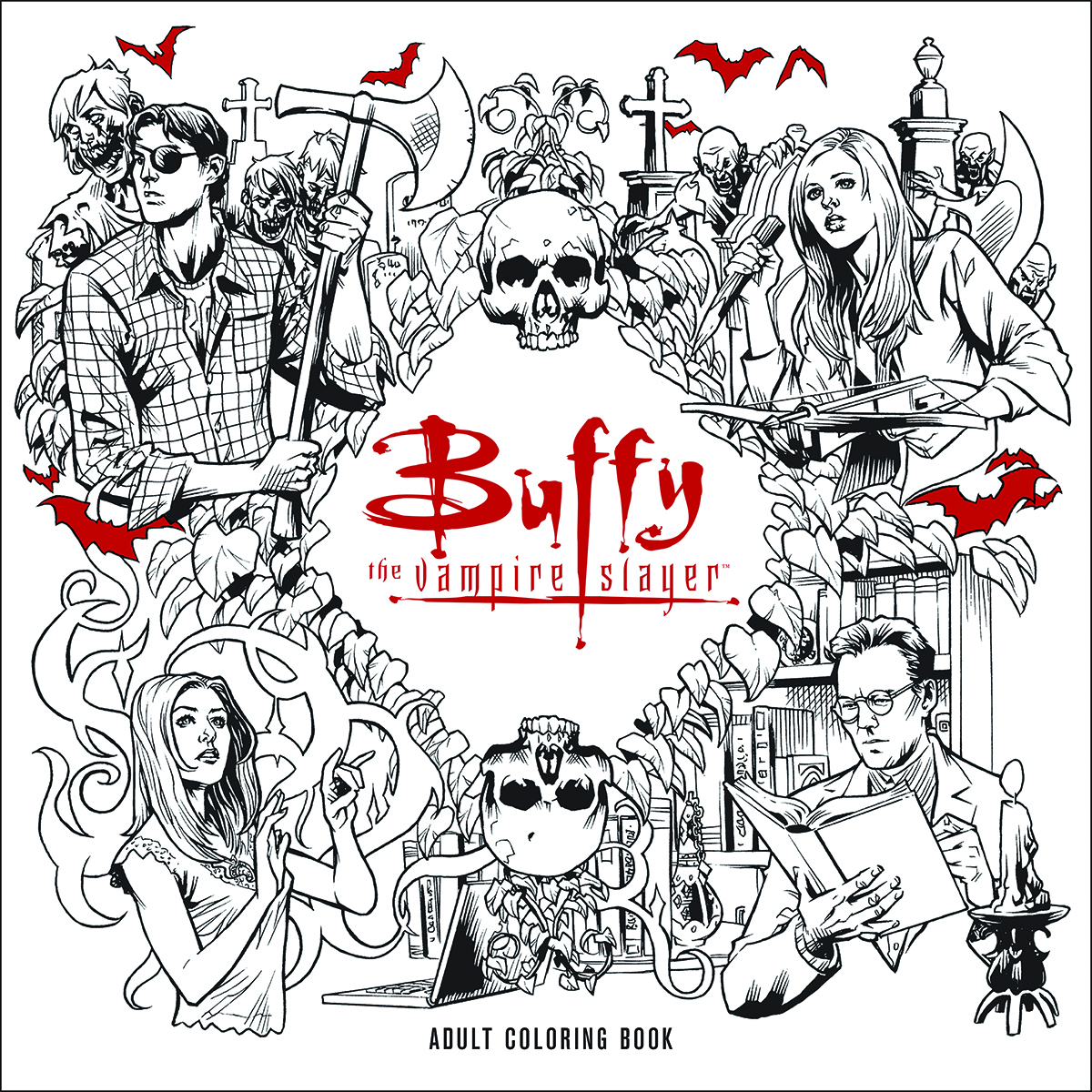 BTVS ADULT COLORING BOOK TP (AUG160020)