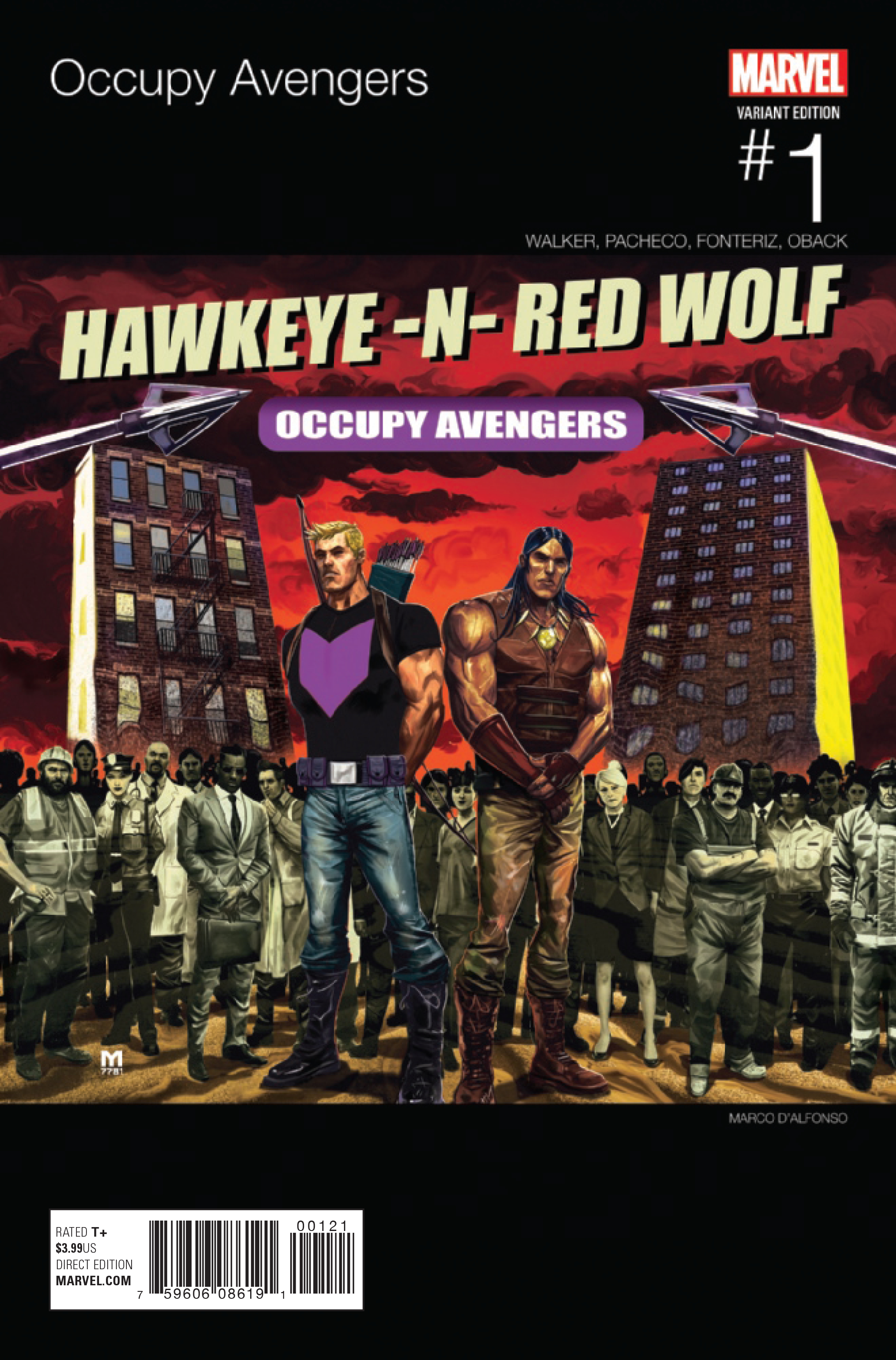 OCCUPY AVENGERS #1 DALFONSO HIP HOP VAR NOW