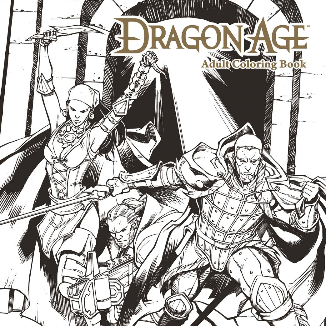 DRAGON AGE ADULT COLORING BOOK TP