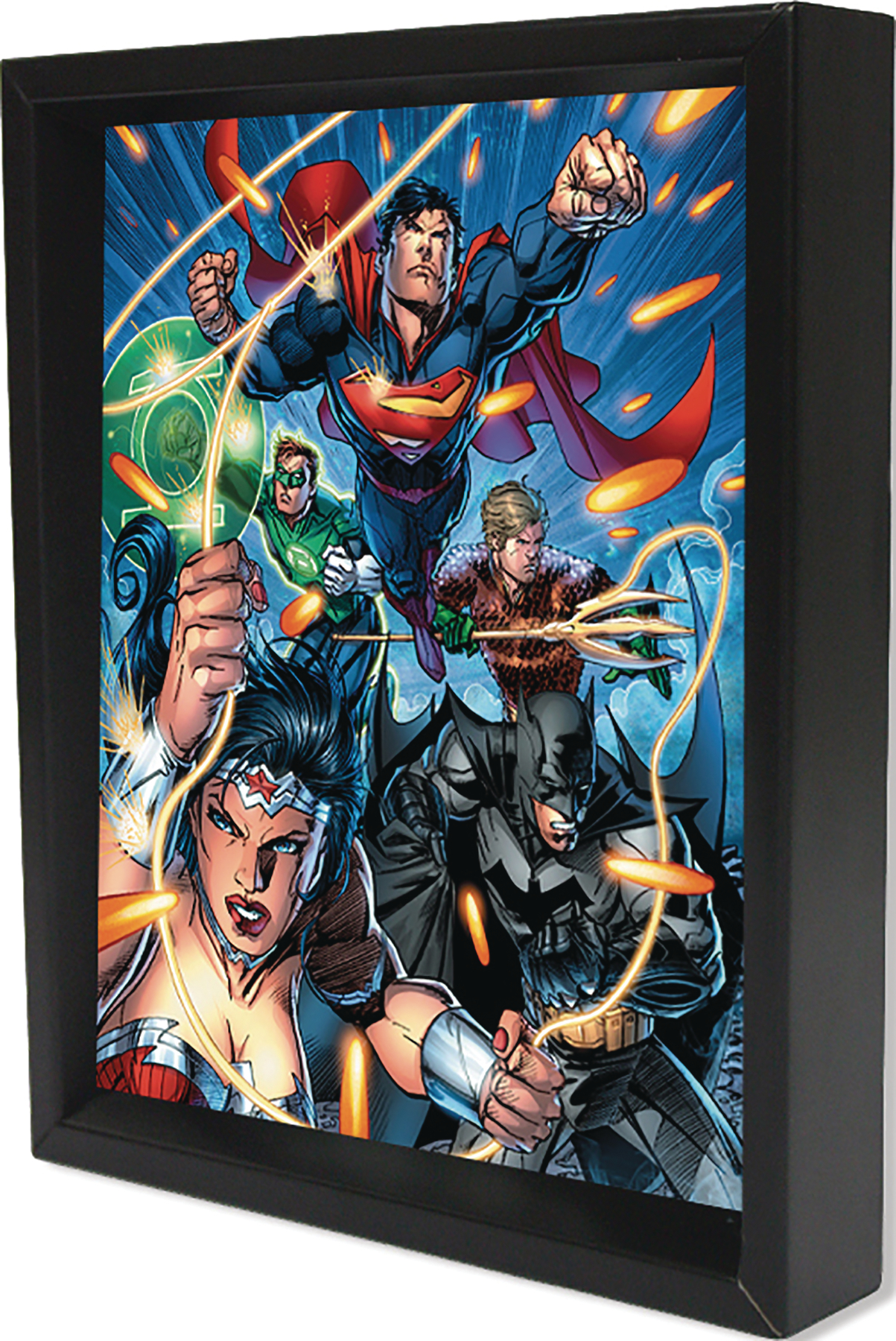 JUSTICE LEAGUE ATTACK LENTICULAR 3D SHADOWBOX