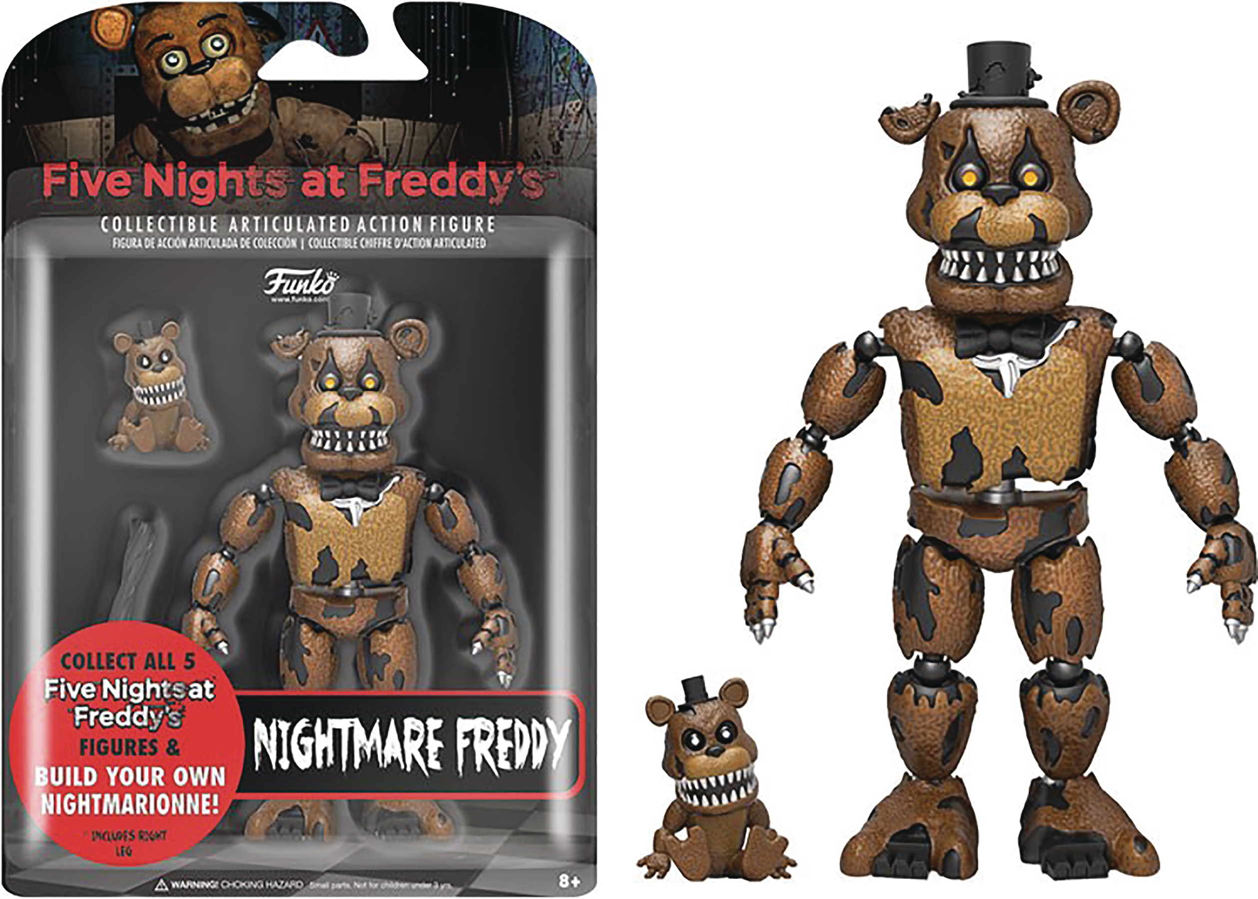 FIVE NIGHTS AT FREDDYS NIGHTMARE FREDDY 5IN ACTION FIGURE
