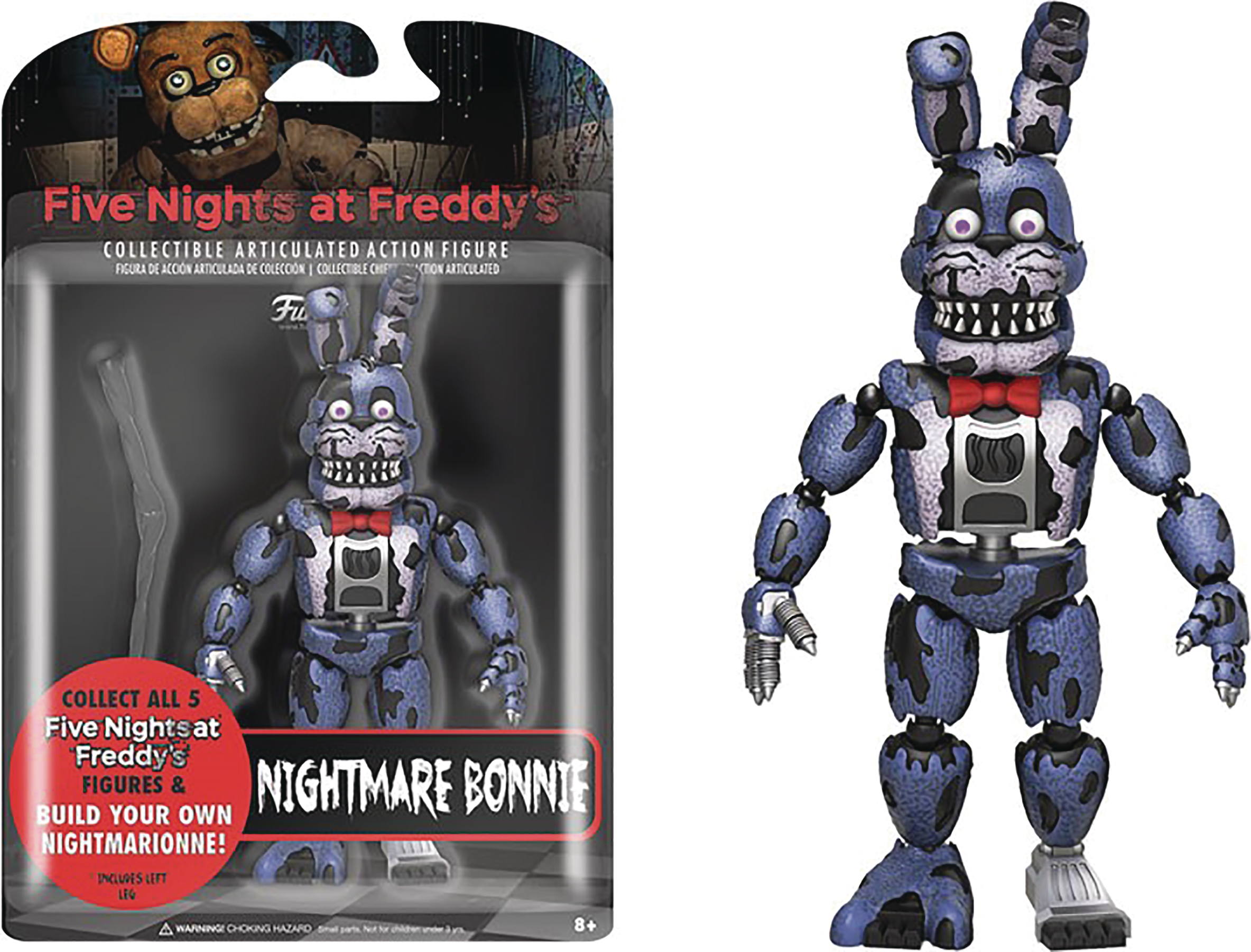FIVE NIGHTS AT FREDDYS NIGHTMARE BONNIE 5IN ACTION FIGURE