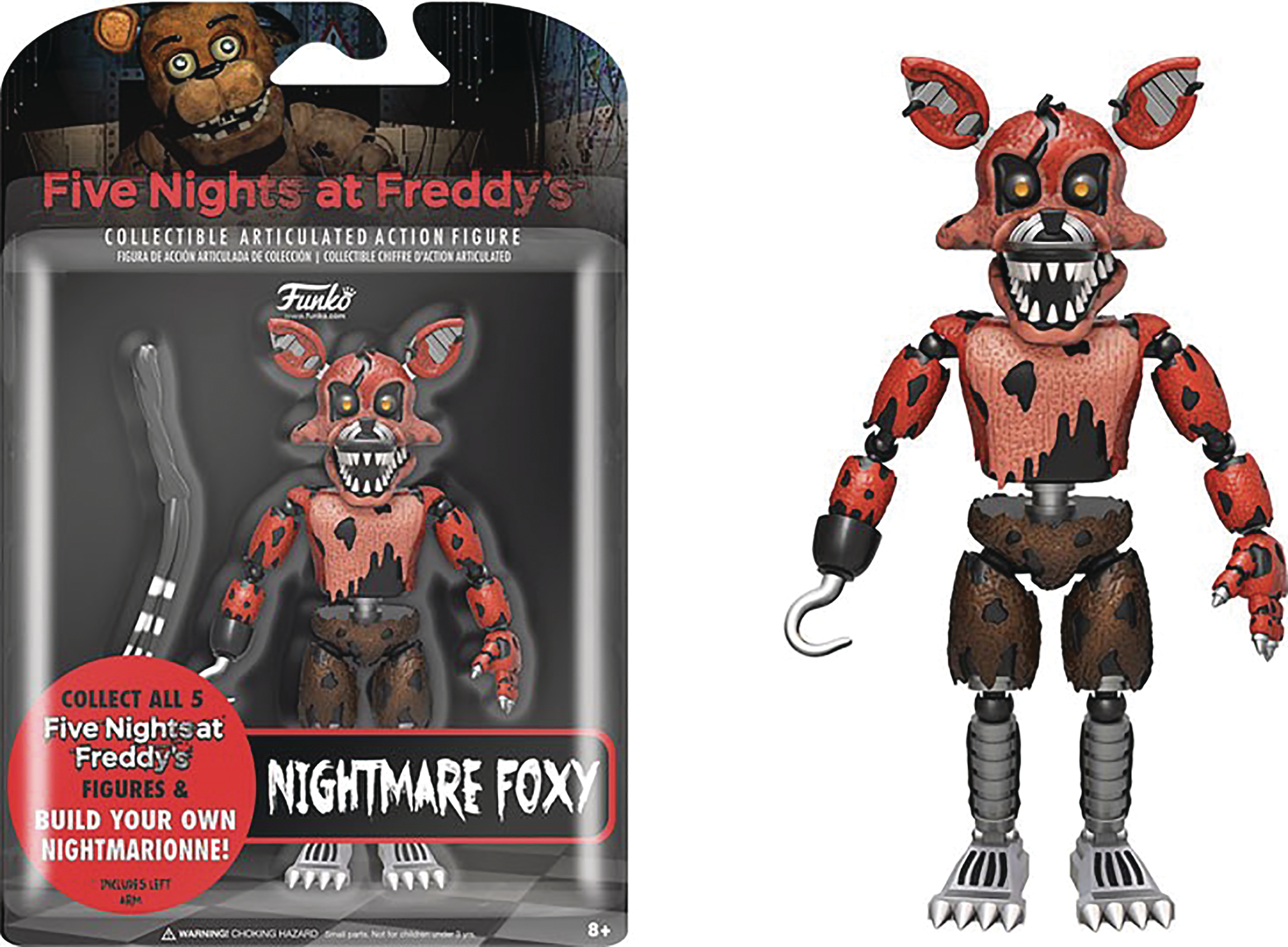 FIVE NIGHTS AT FREDDYS NIGHTMARE FOXY 5IN ACTION FIGURE