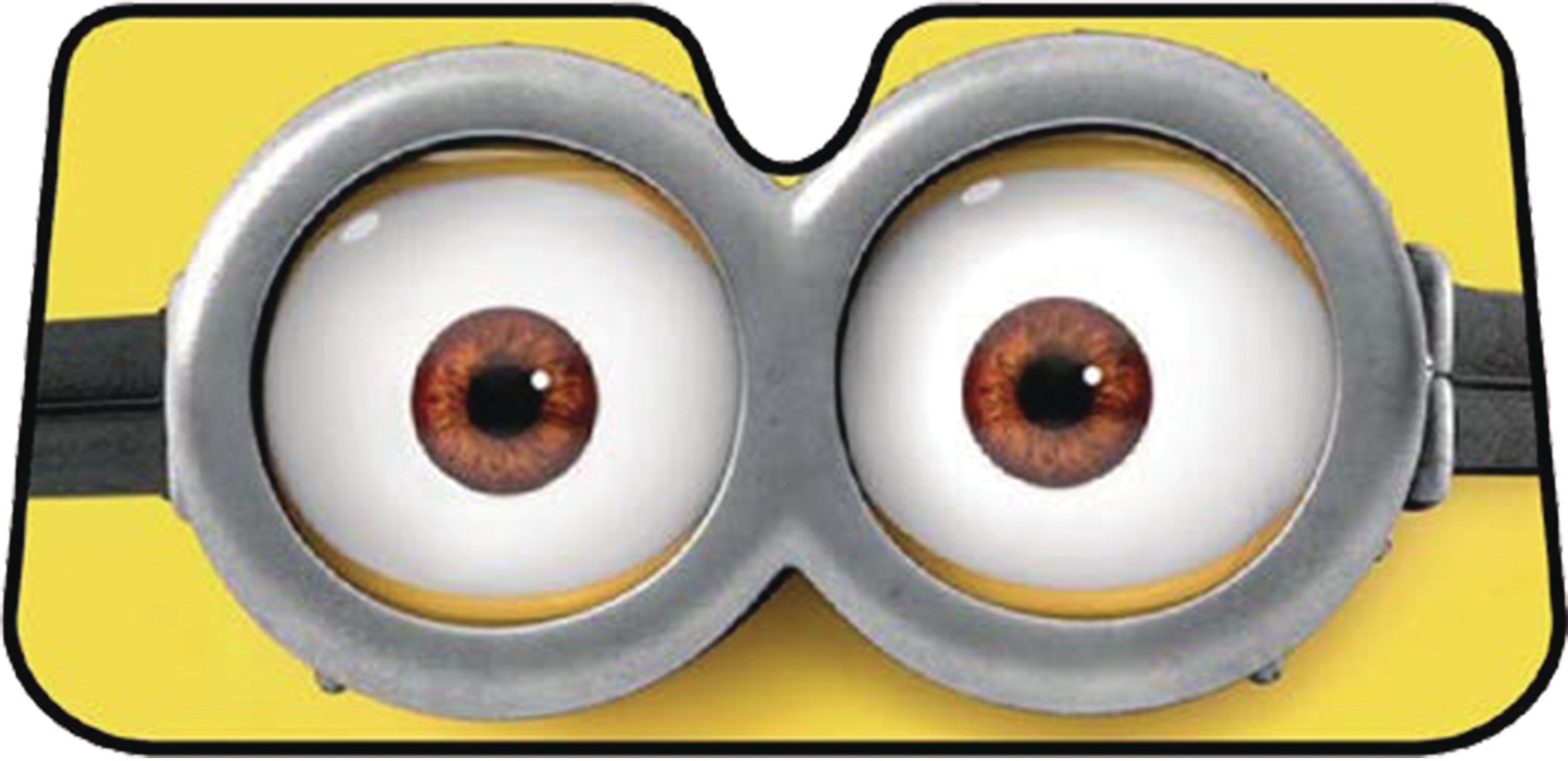 feb173151 minions eyes accordion auto sunshade previews world. Black Bedroom Furniture Sets. Home Design Ideas