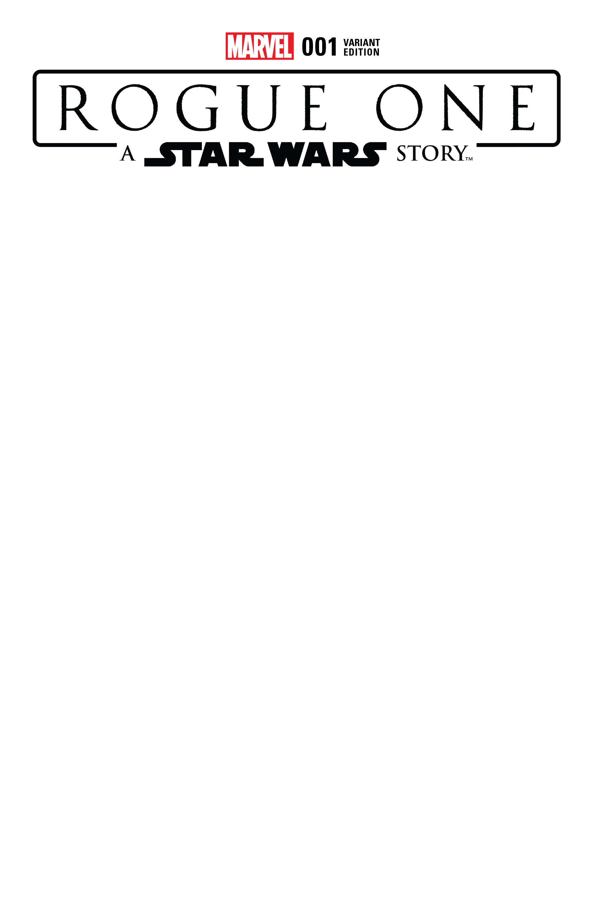STAR WARS ROGUE ONE ADAPTATION #1 (OF 6) BLANK VAR