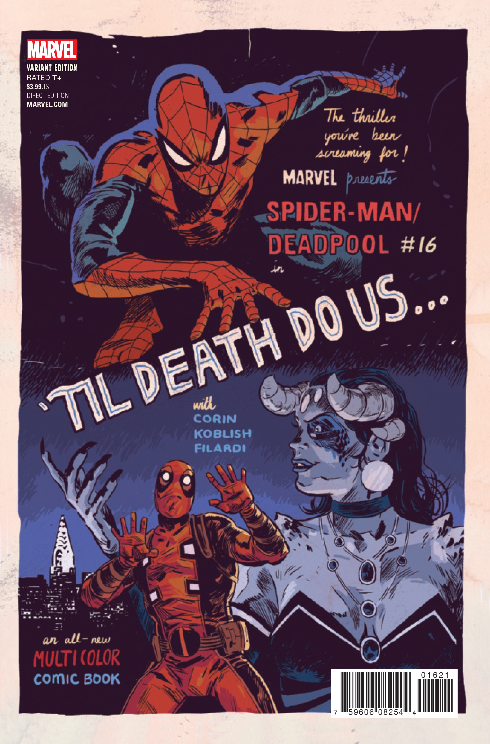 SPIDER-MAN DEADPOOL #16 WALSH POSTER VAR