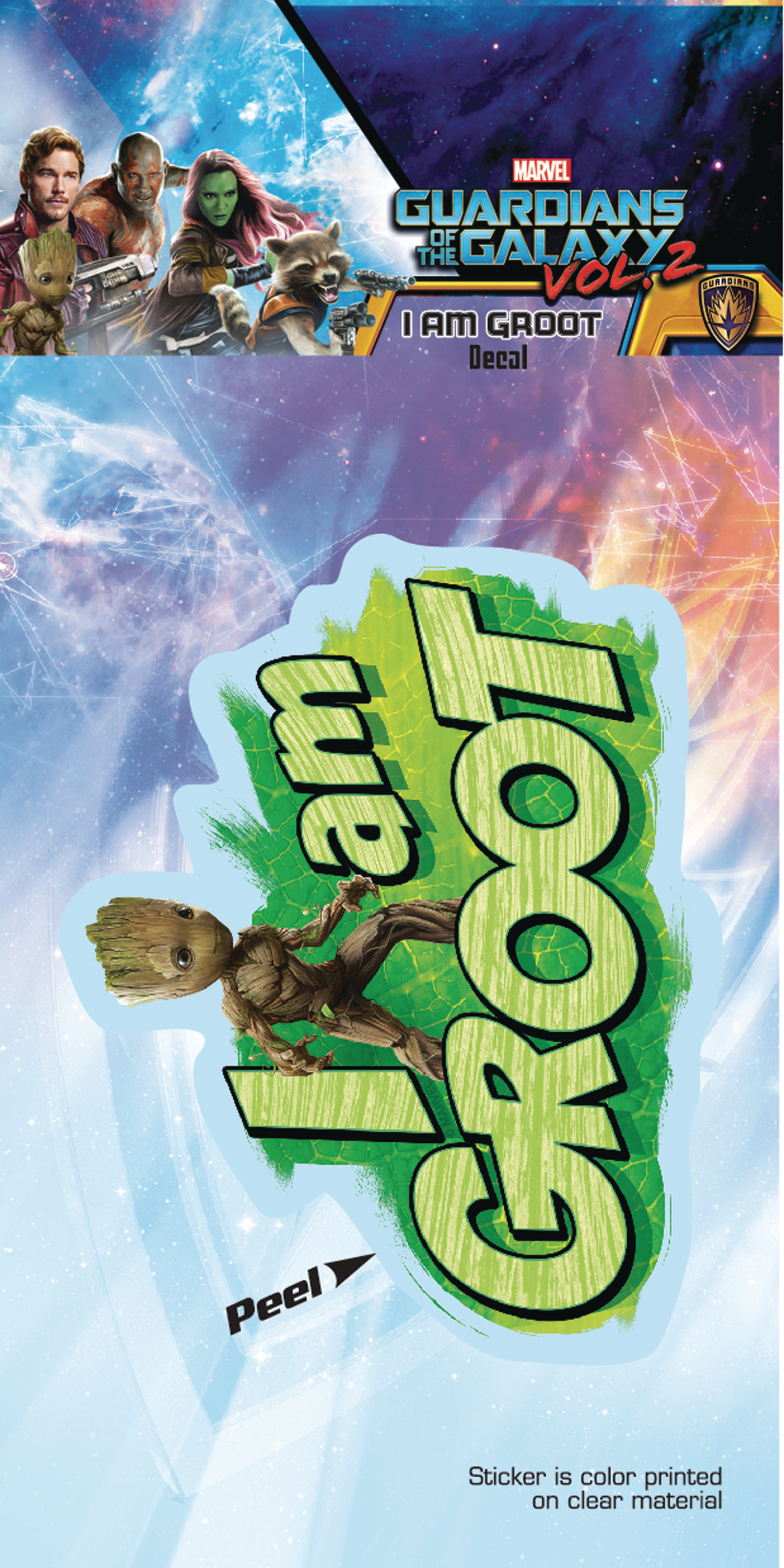 MAR173202 - GUARDIANS OF THE GALAXY VOL2 I AM GROOT DECAL